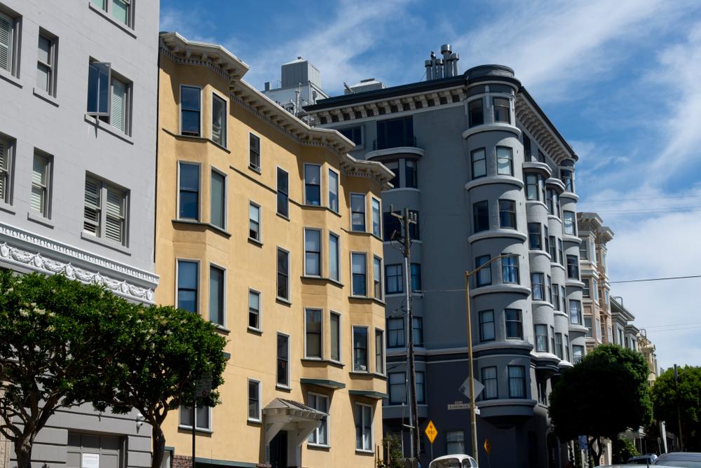 Apartment buildings in San Francisco.