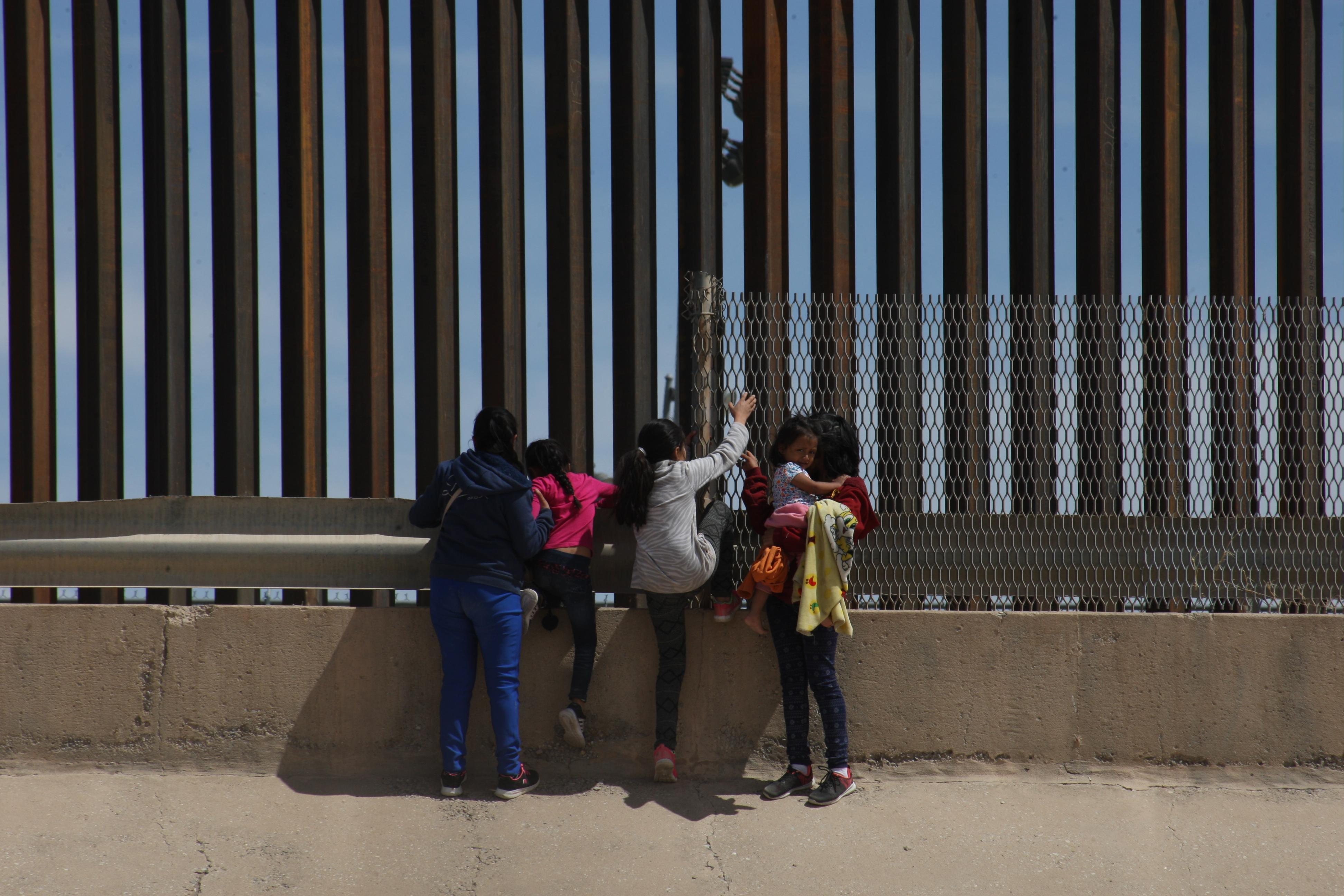 Migrants Cross The Border Mexico-USA