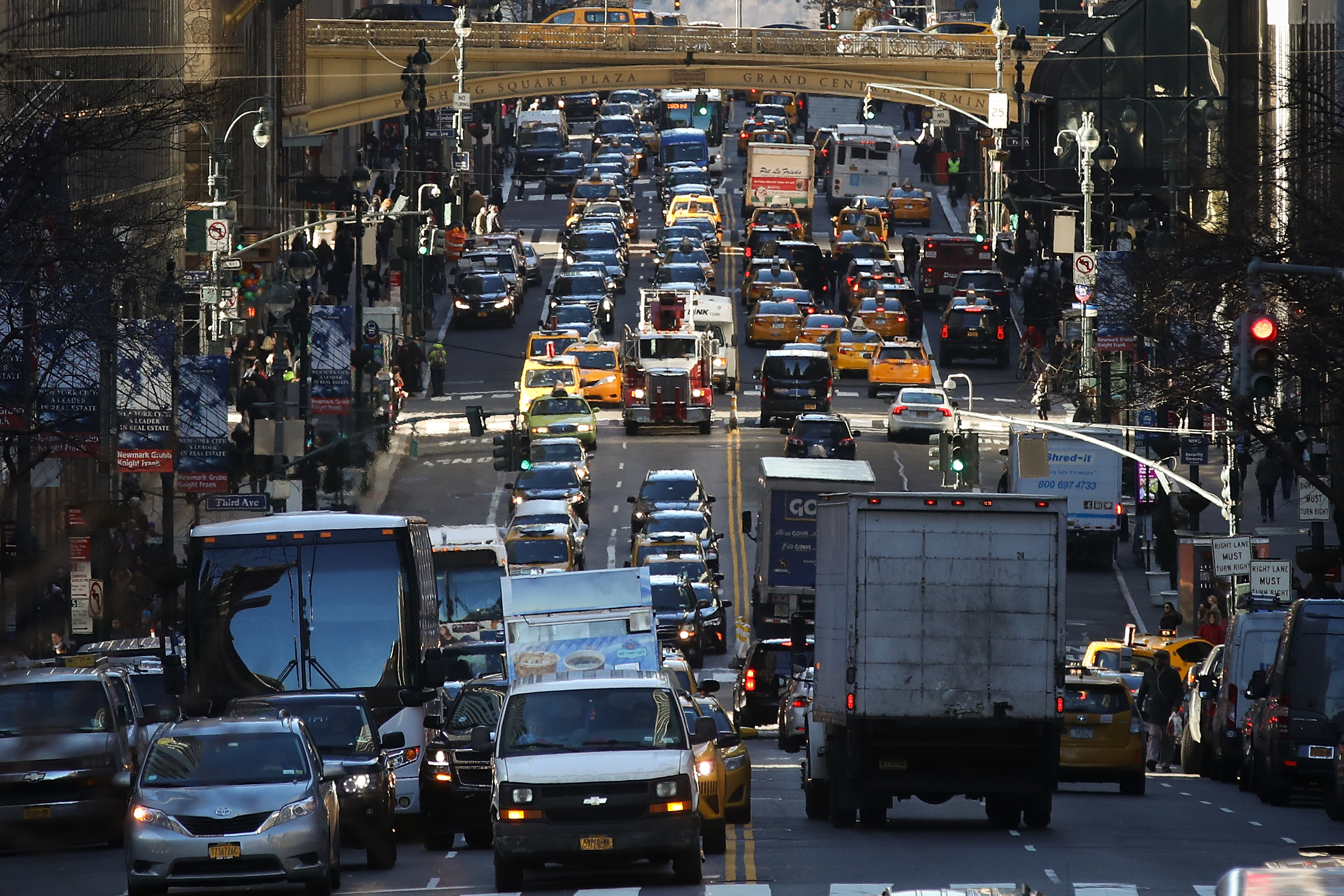 Traffic in a major city.