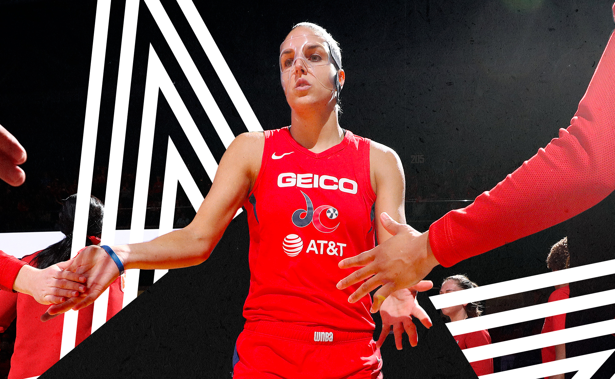 Elena Delle Donne is introduced in the starting lineup for the Mystics.