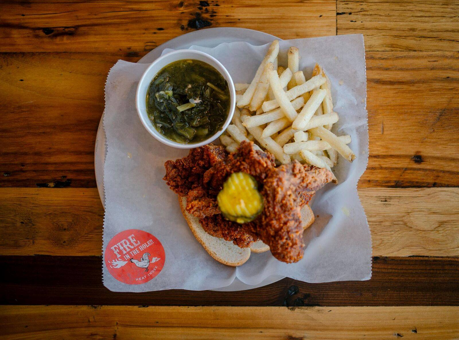 The hot chicken at Tumble 22