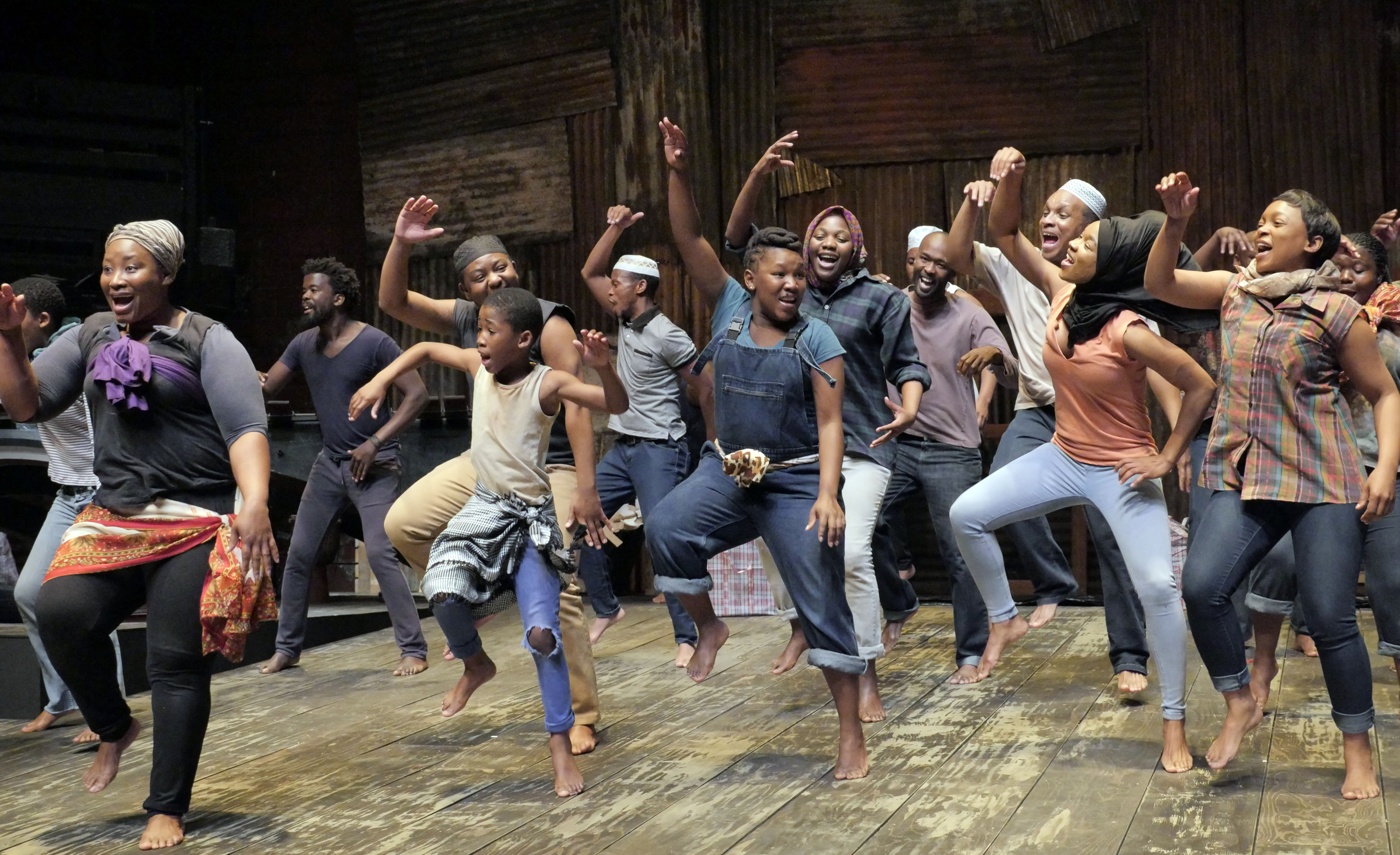 "Chicago Shakespeare Theater presents Isango Ensemble's ""A Man of Good Hope,"" based on the book by Jonny Steinberg and adapted and directed by Mark Dornford-May."