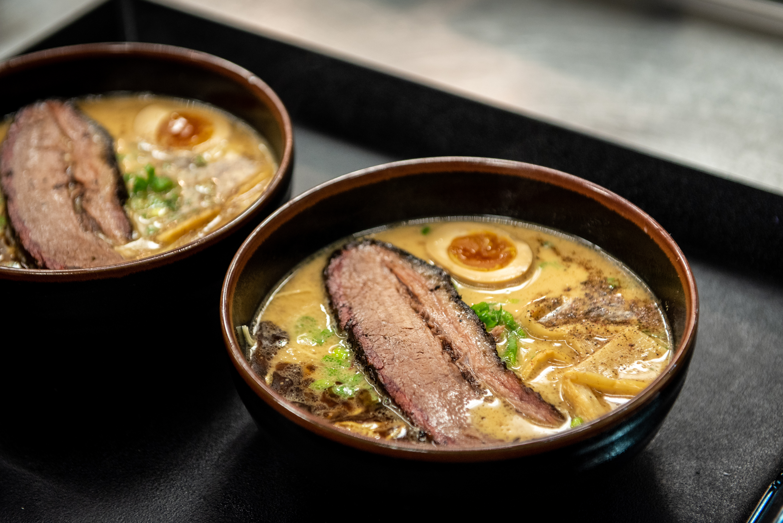 Ramen Tatsu-ya's brisket ramen with Truth BBQ