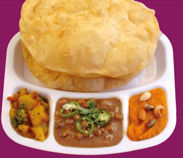 Halwa poori at Halwa Poori House in Thornton Heath, one of the best places to eat in London this weekend