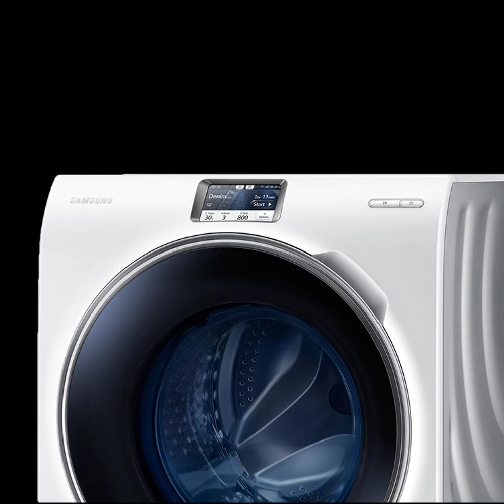 a washing machine with a touchscreen
