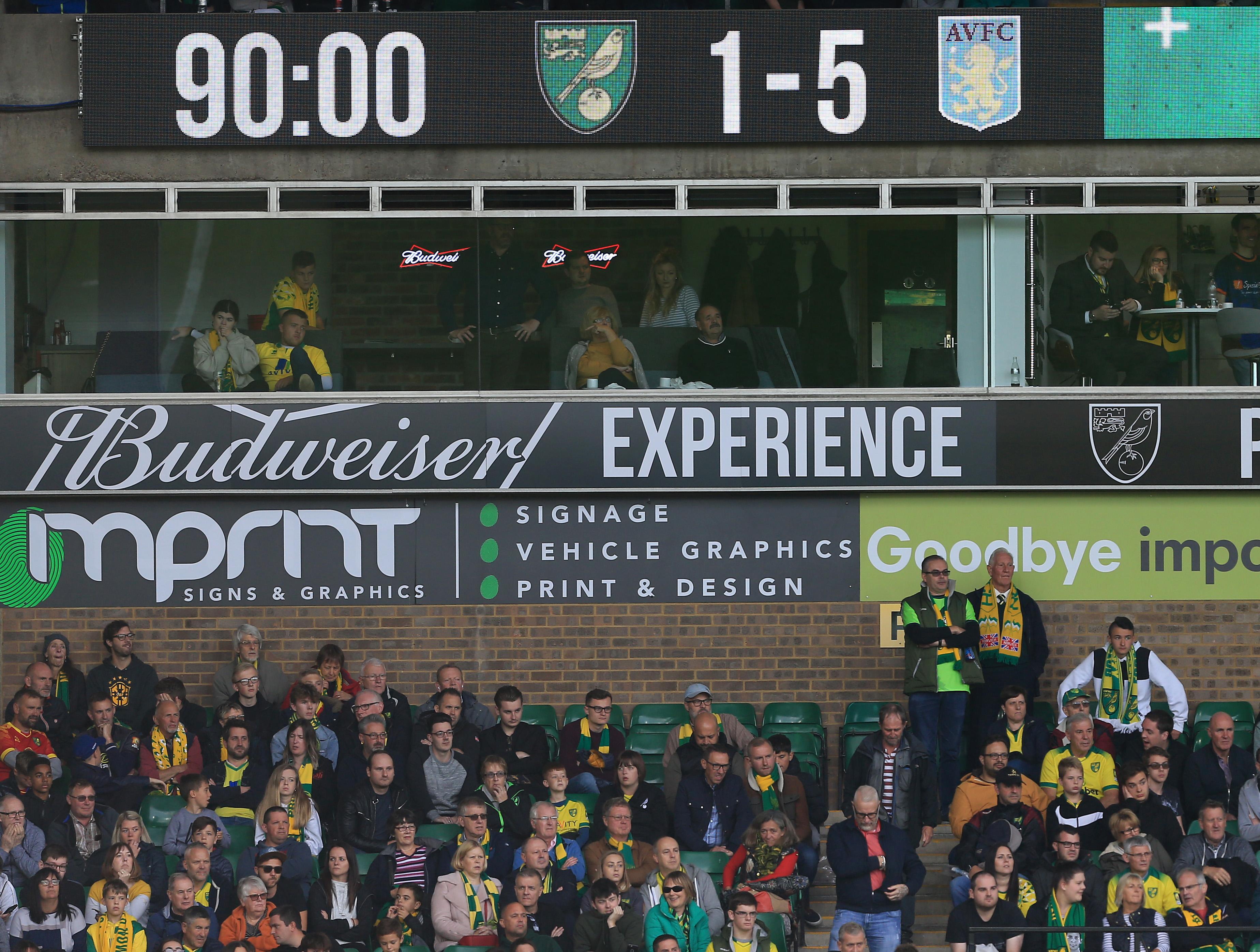 Norwich City 1 - 5 Aston Villa: Villa hang a nickel on the Canaries