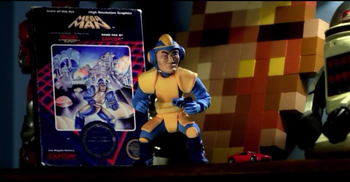 Mega Man Universe's soundtrack turns up, along with Robot Master art