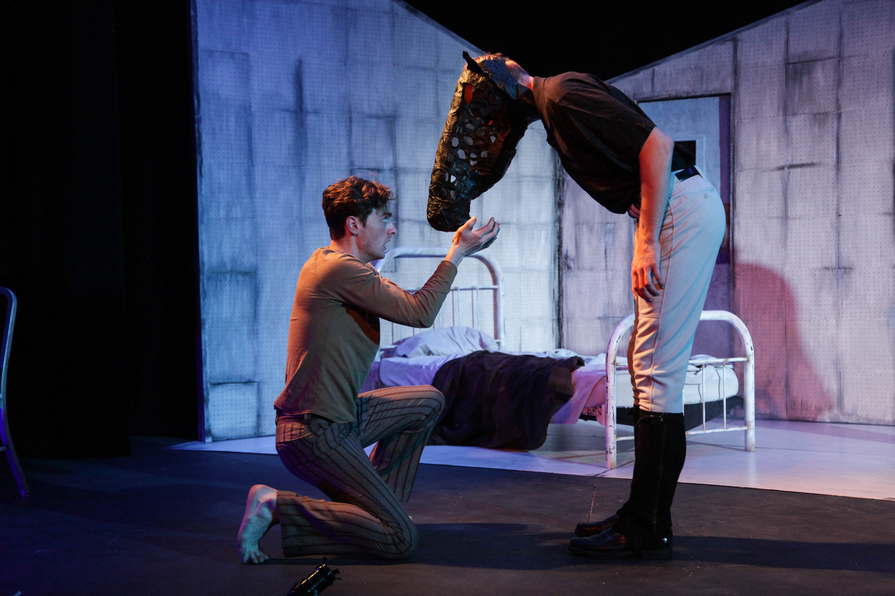 Sean William Kelly and Jordan Pokorney in AstonRep Theatre Company's production of EQUUS.