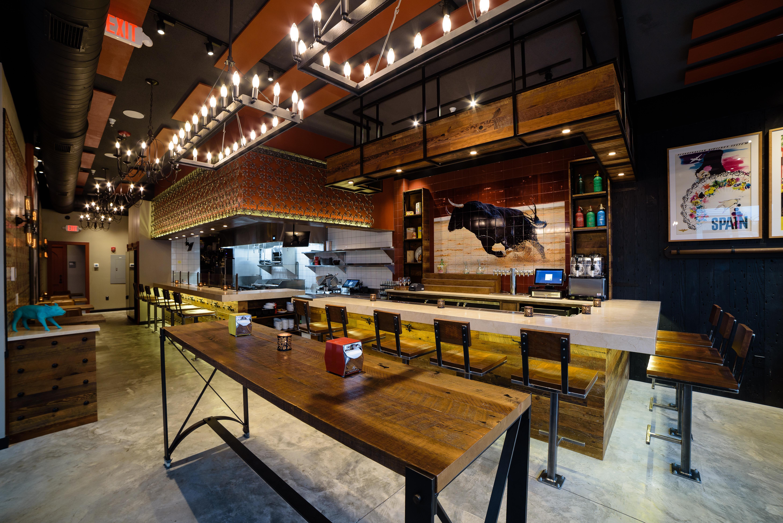Inside a tapas bar