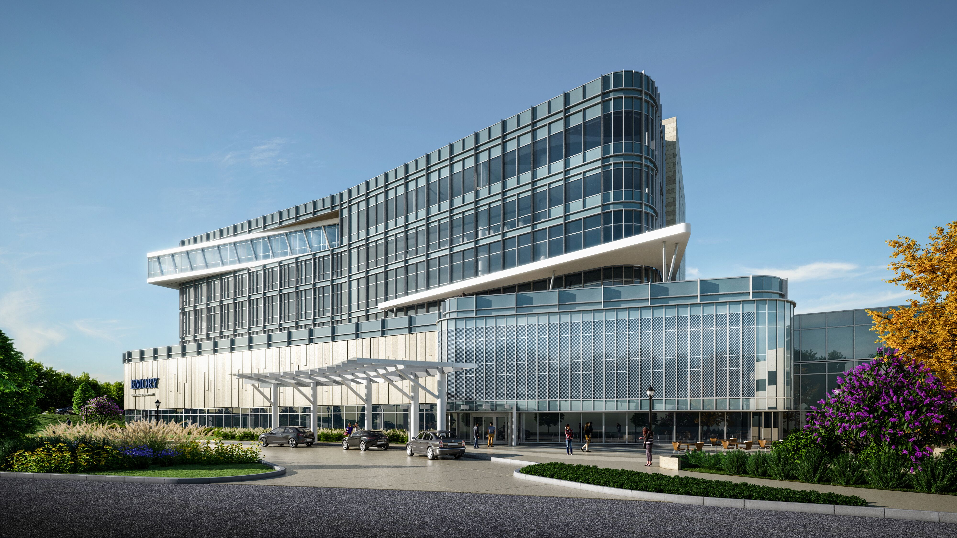 Emory breaks ground on latest facility, looks to make architectural statement near I-85