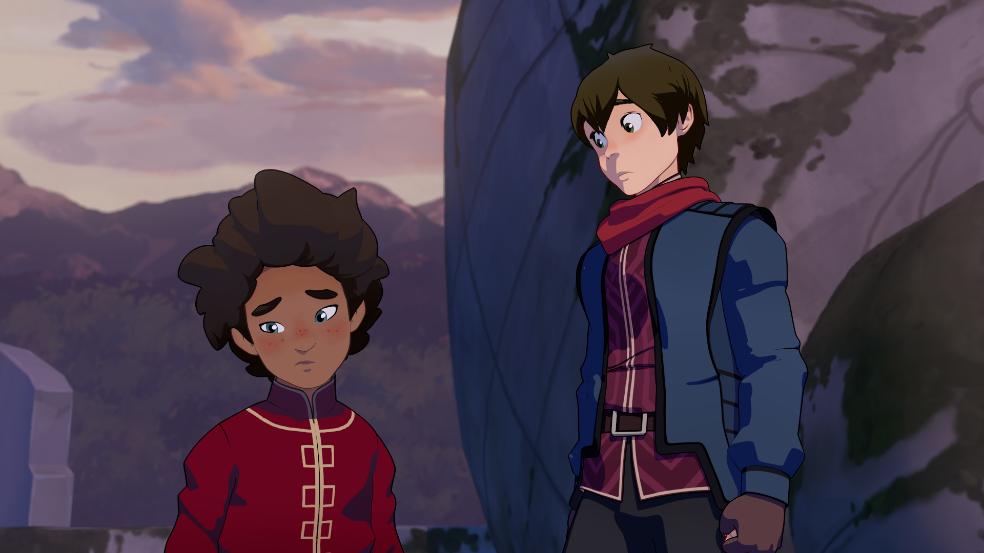 The Dragon Prince - Callum and Ezran look uncertain
