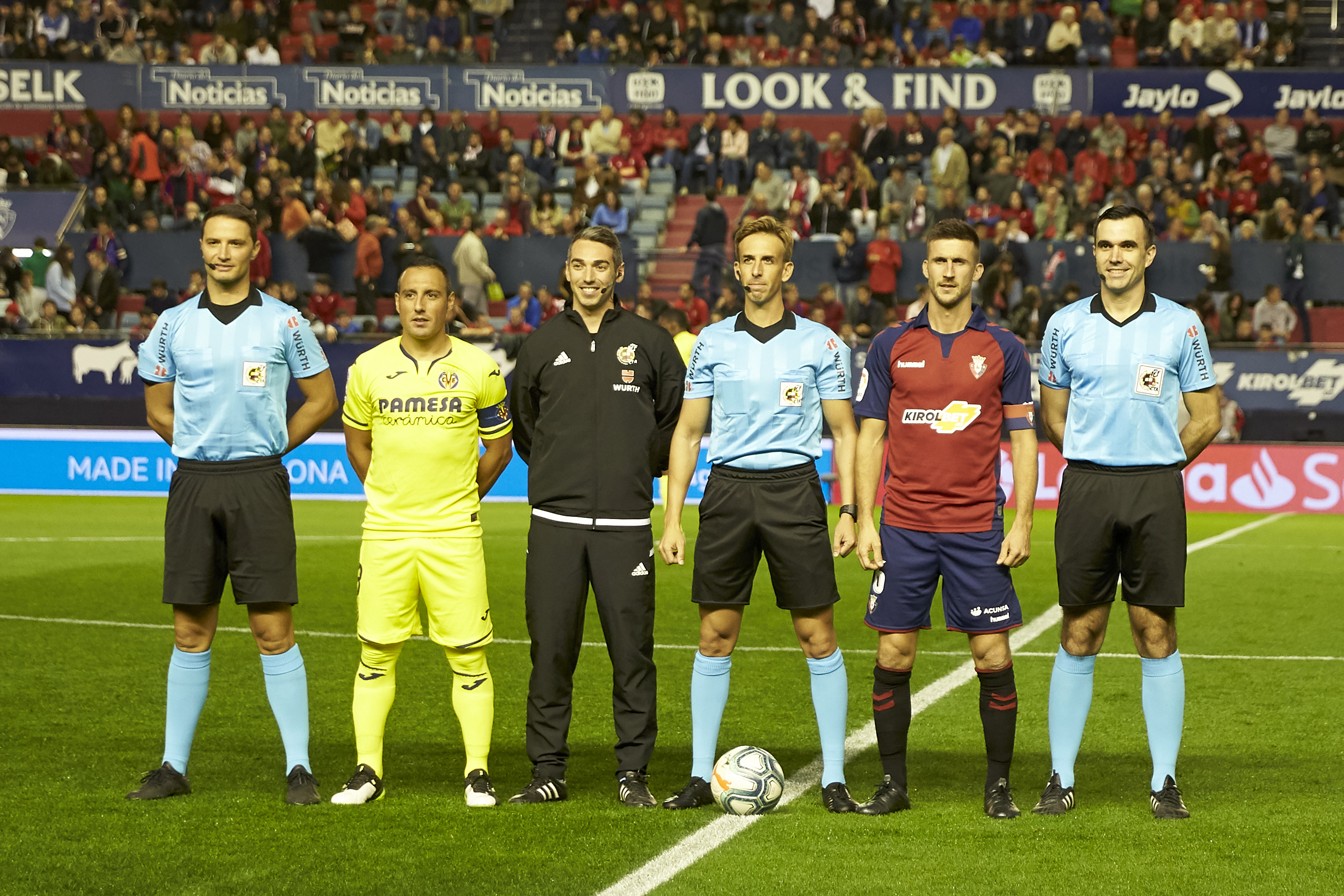 Captains of both teams and the referees before the start of...