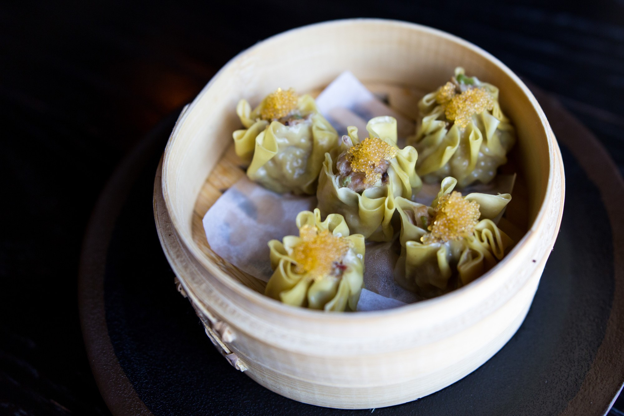 Crab and leek shumai at Old Thousand