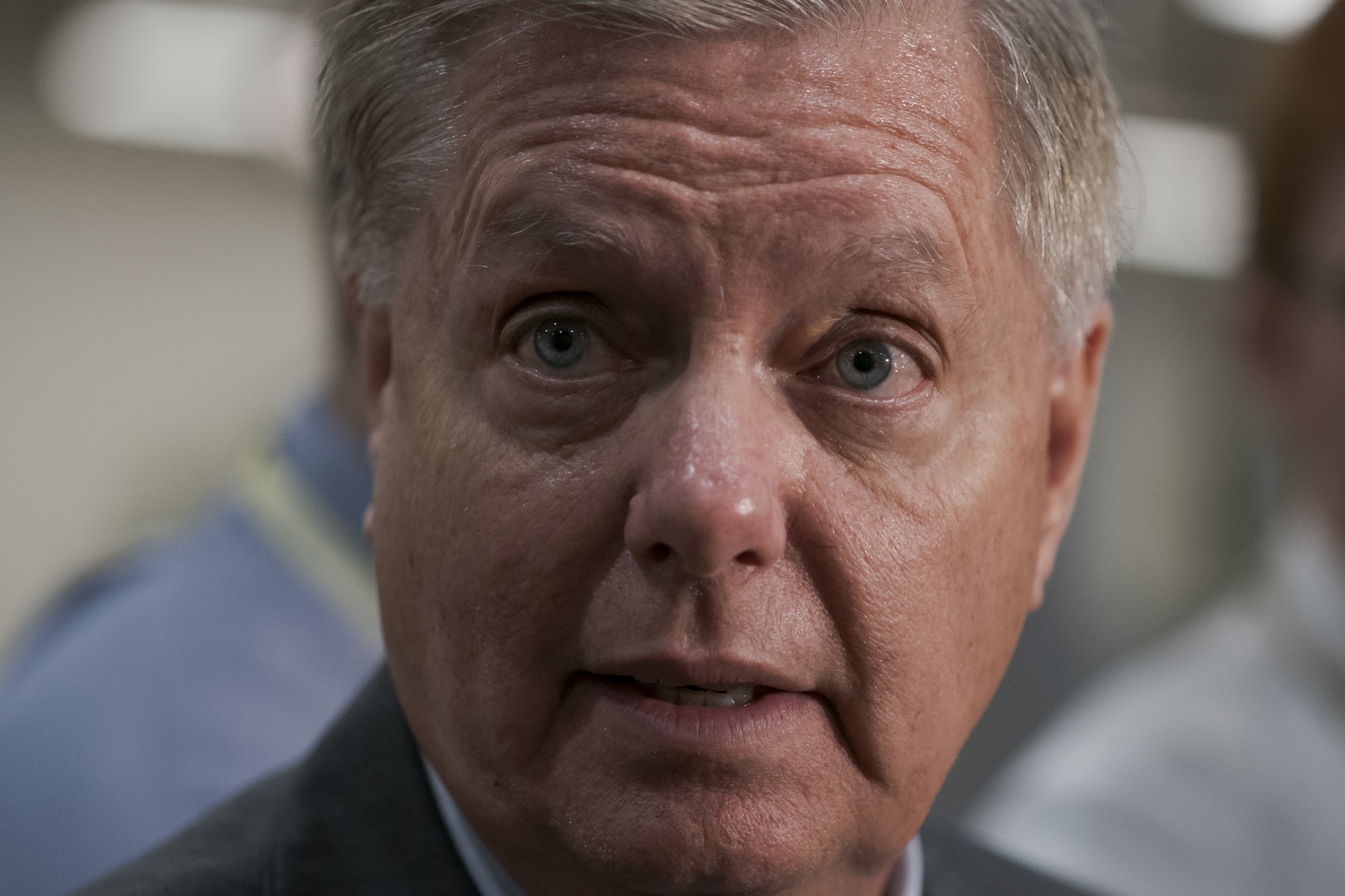 Sen. Lindsey Graham, R-S.C., has been vocal in disagreeing with President Trump on the decision to pull U.S. troops out of northeastern Syria.