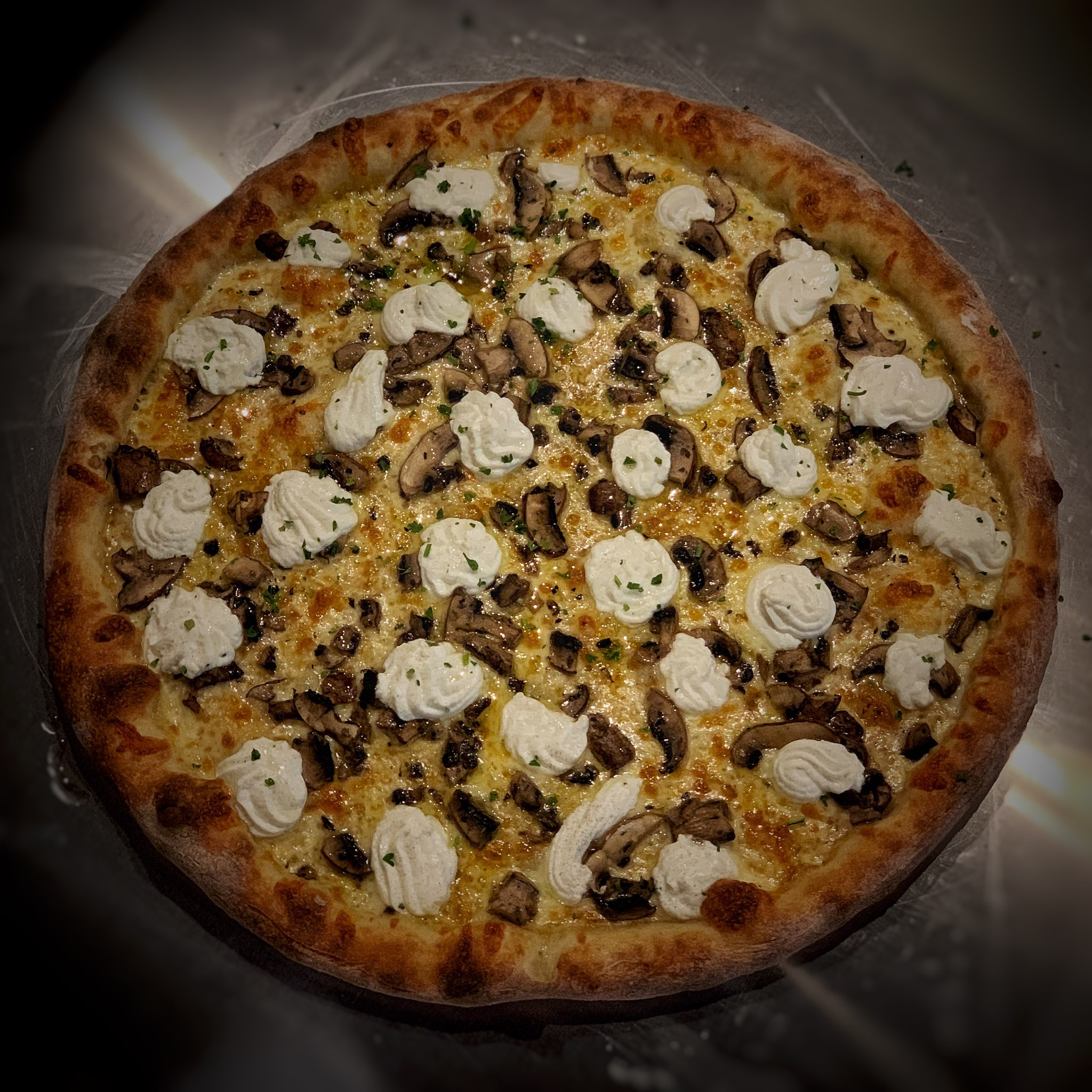 """The """"McMushroom"""" is one of the top-selling signature pies at Raymond's."""