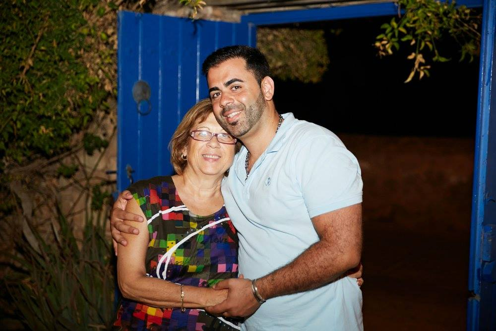Stephanos Andreou and his mom
