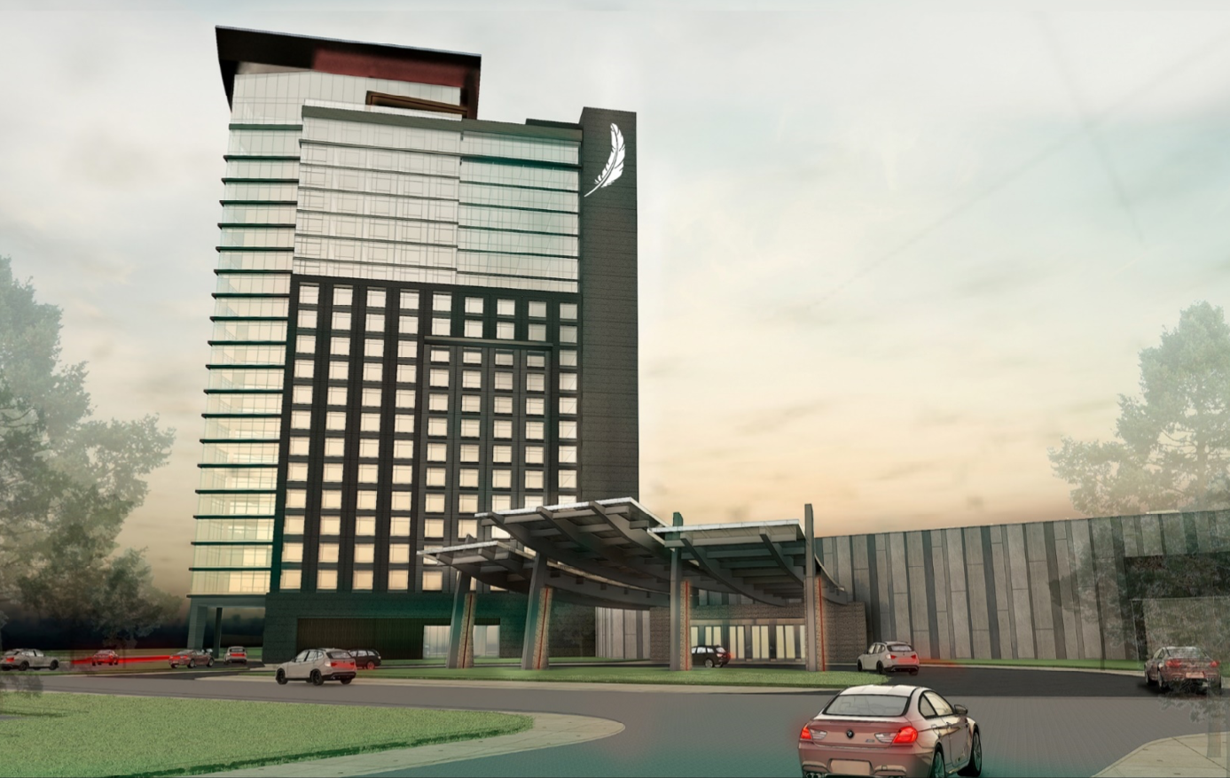 Artist's rendering of a proposed Ho-Chunk casino in south suburban Lynwood.