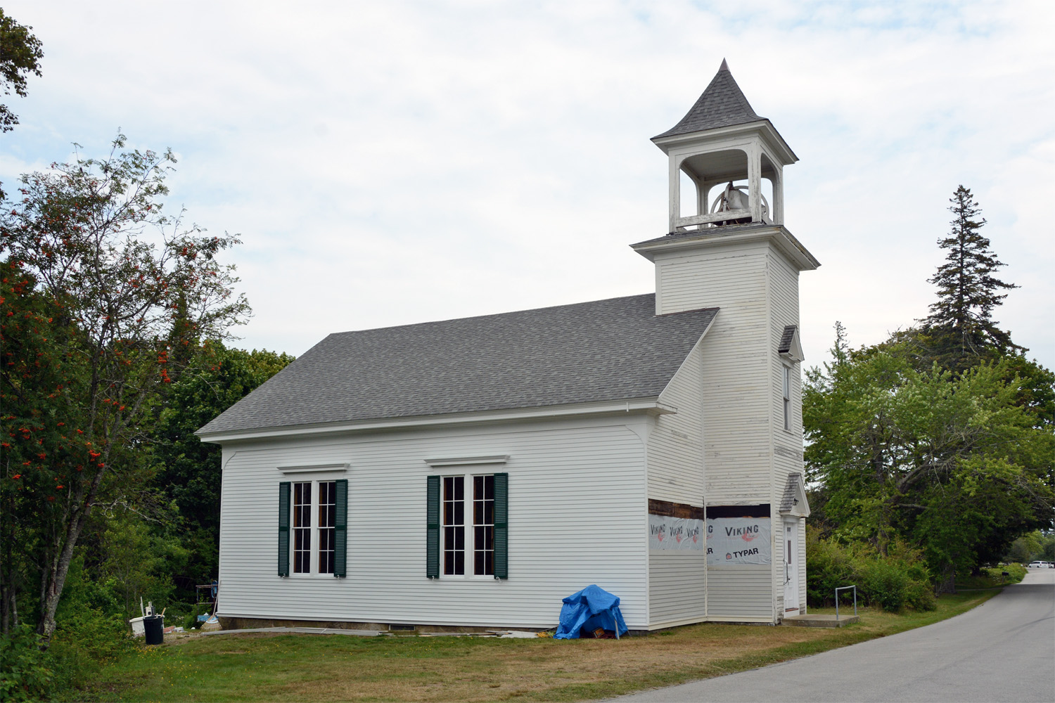 Extant church where Wilford Woodruff, president of The Church of Jesus Christ of Latter-day Saints from 1889 to 1898, preached in North Haven, Maine.