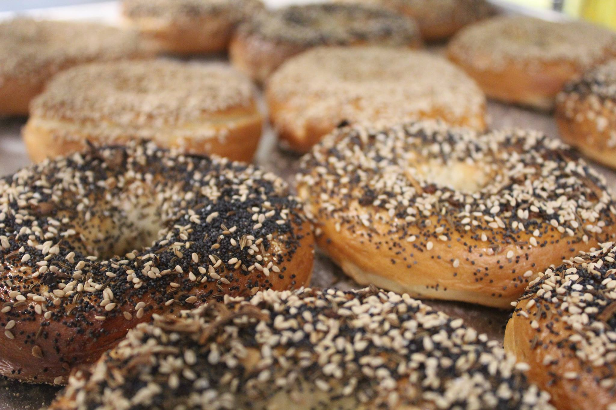 Bagels from Biderman's Deli