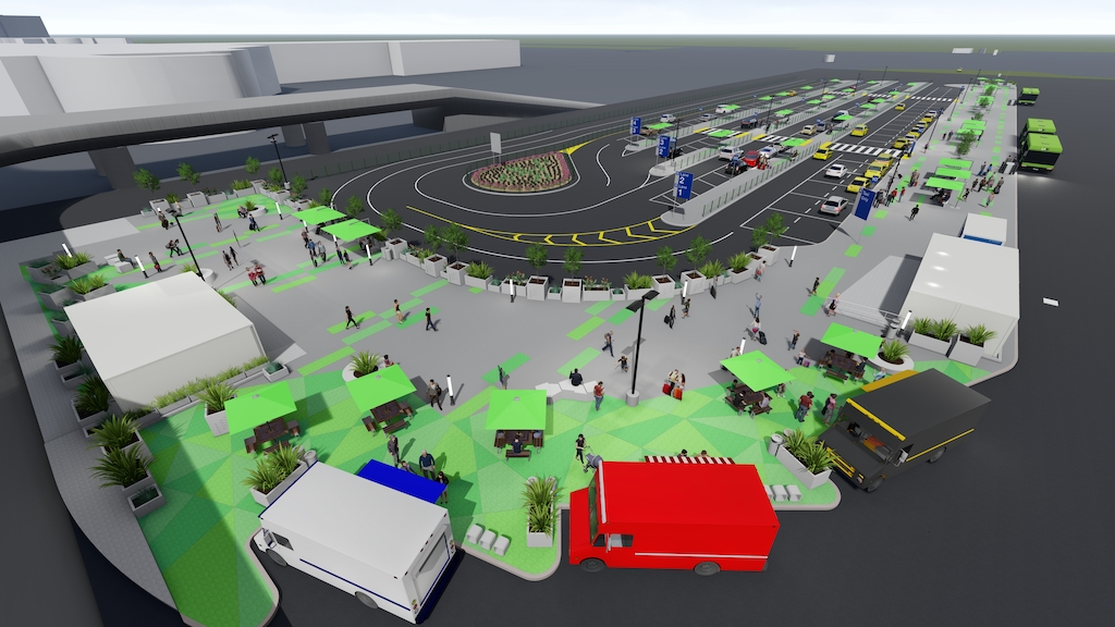 Renderings for the LAX-it pickup lot at Los Angeles International Airport