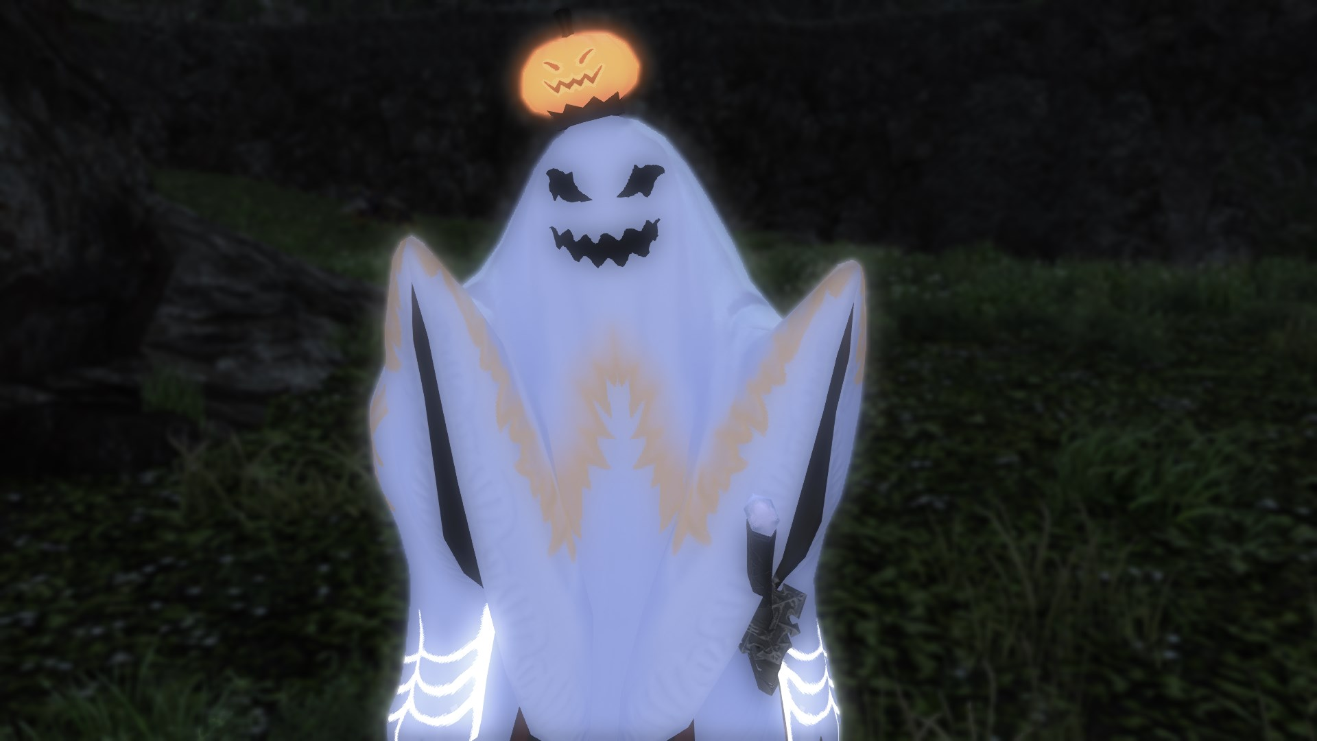 My Final Fantasy 14 Halloween costume has made the cutscenes so much better