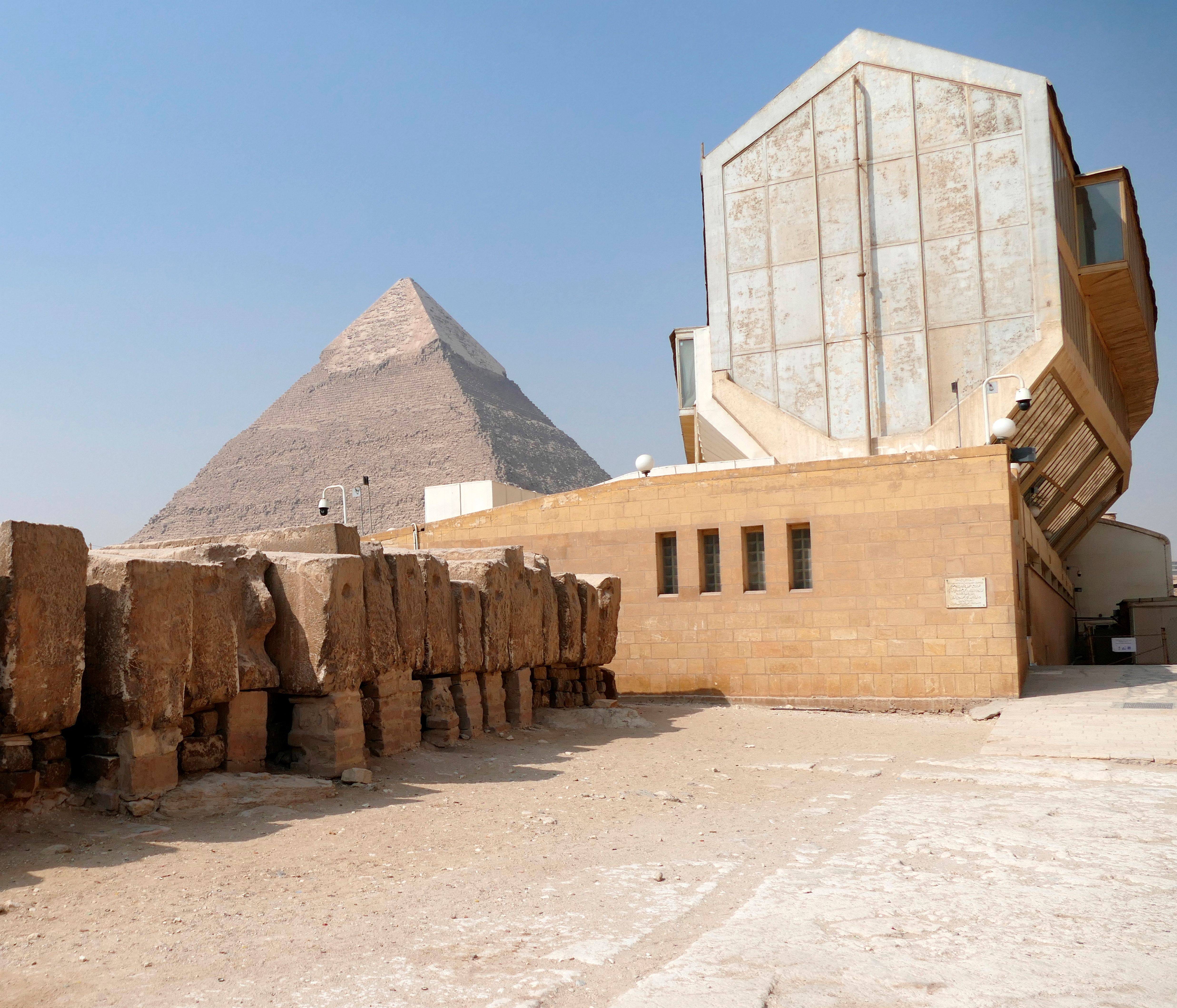 Boat of Ra (Solar Boat) museum next to the Pyramid of Khafre or of Chephren