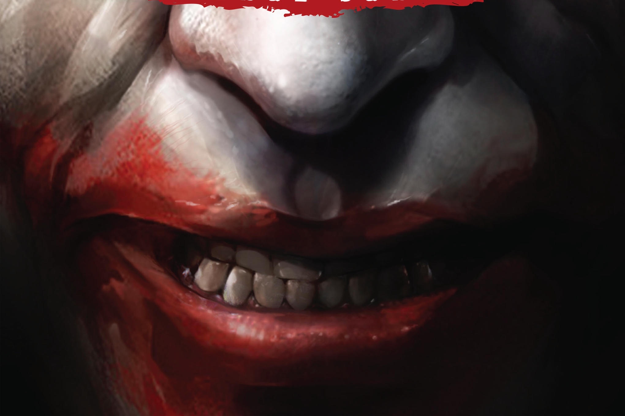 The Joker's smile, from the cover of Joker/Harley: Criminal Sanity #1, DC Comics (2019).