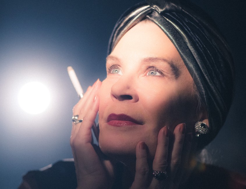 "Hollis Resnik stars as forgotten silent film screen star Norma Desmond in ""Sunset Boulevard"" at Porchlight Music Theatre."
