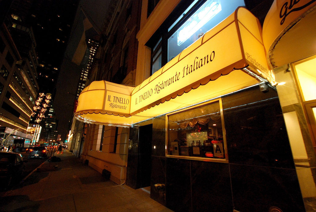 Il Tinello's yellow awning