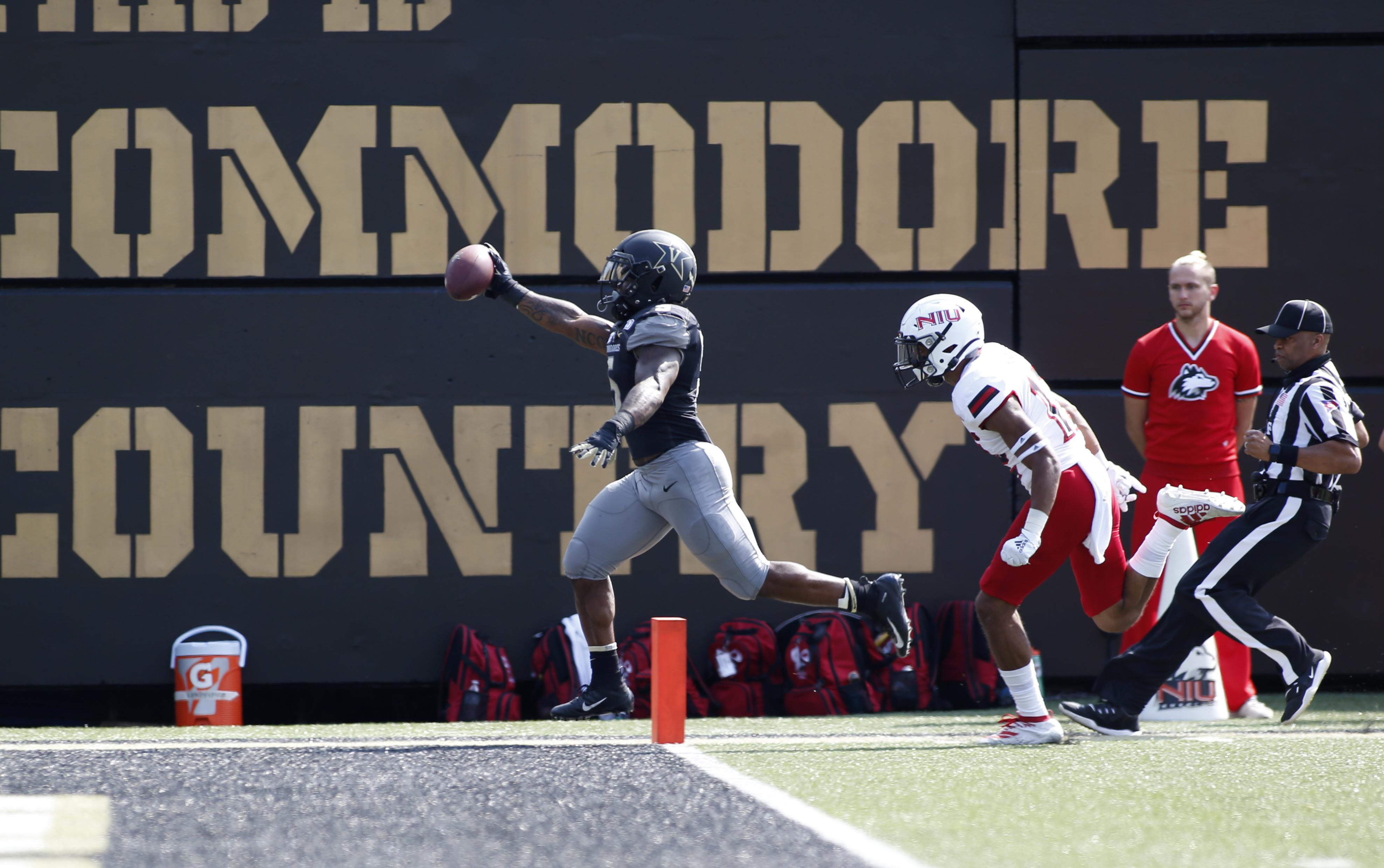 大学橄榄球:2018年9月28日Vanderbilt