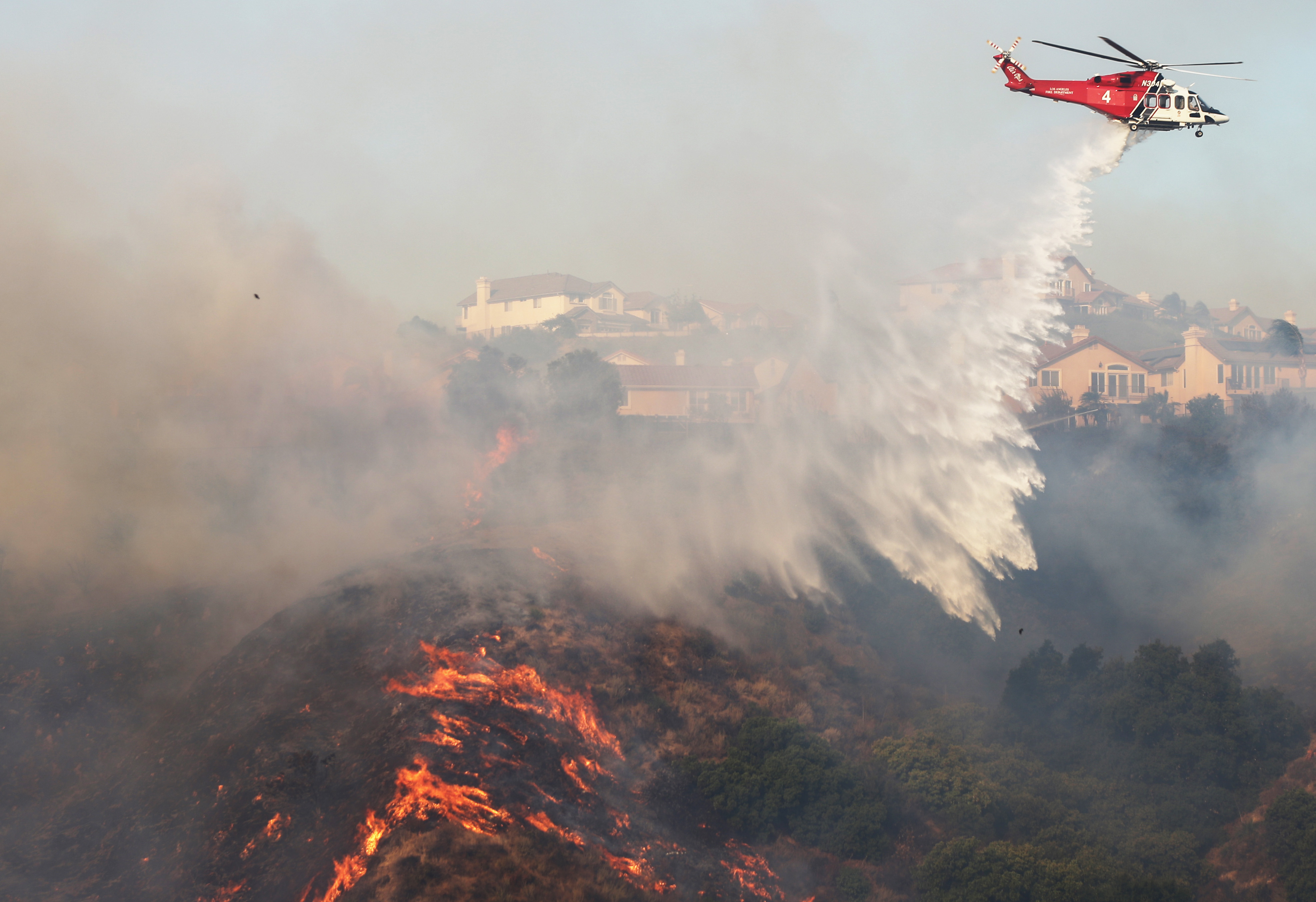 Hot, dry, and windy conditions in California have sparked big fires