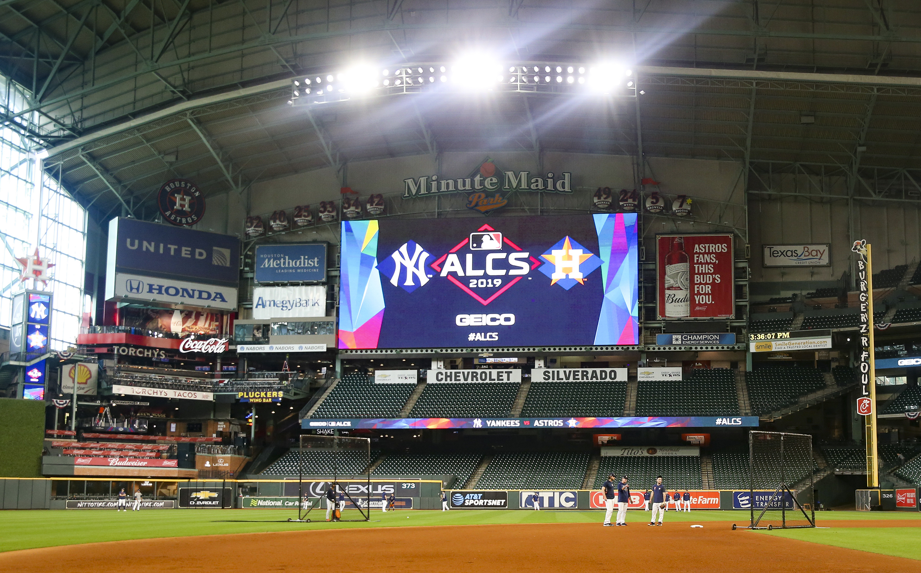 MLB: ALCS-Workouts