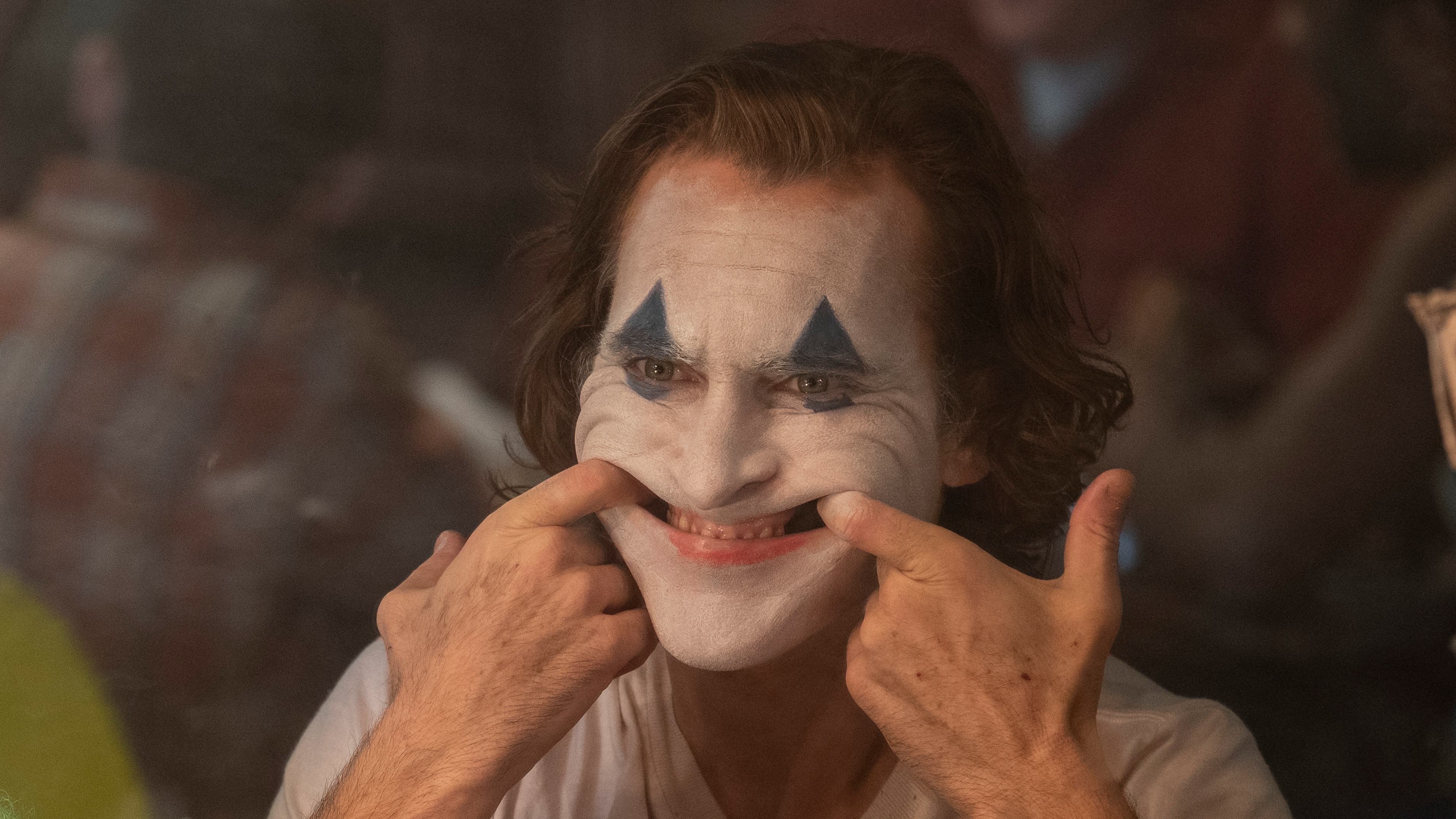 Joaquin Phoenix as Joker in Joker.