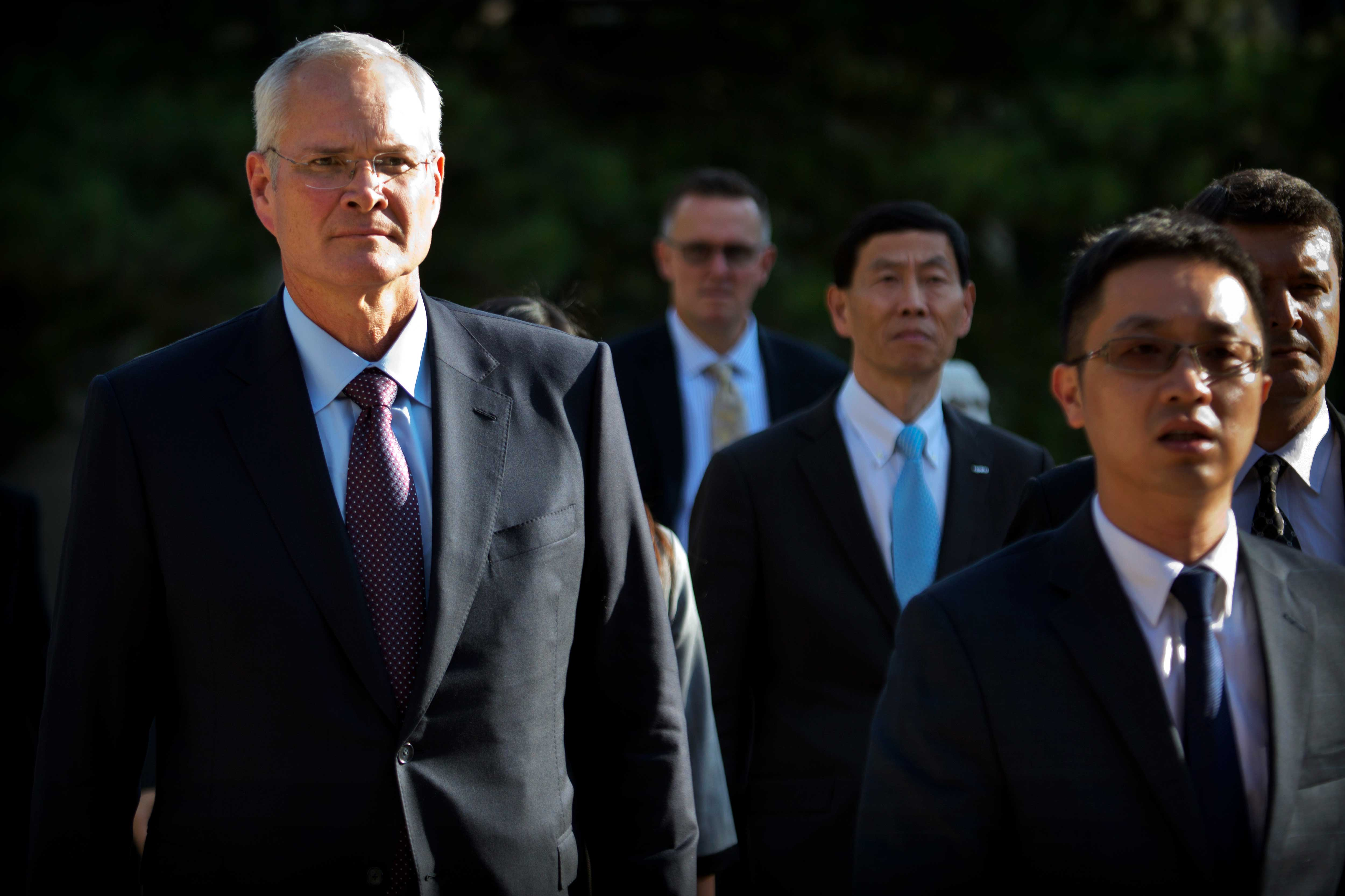 Exxon Mobil chairman and CEO Darren Woods arrives for a meeting with Chinese Premier Li Keqiang at the Zhongnanhai Leadership Compound in Beijing, China on September 7, 2018.