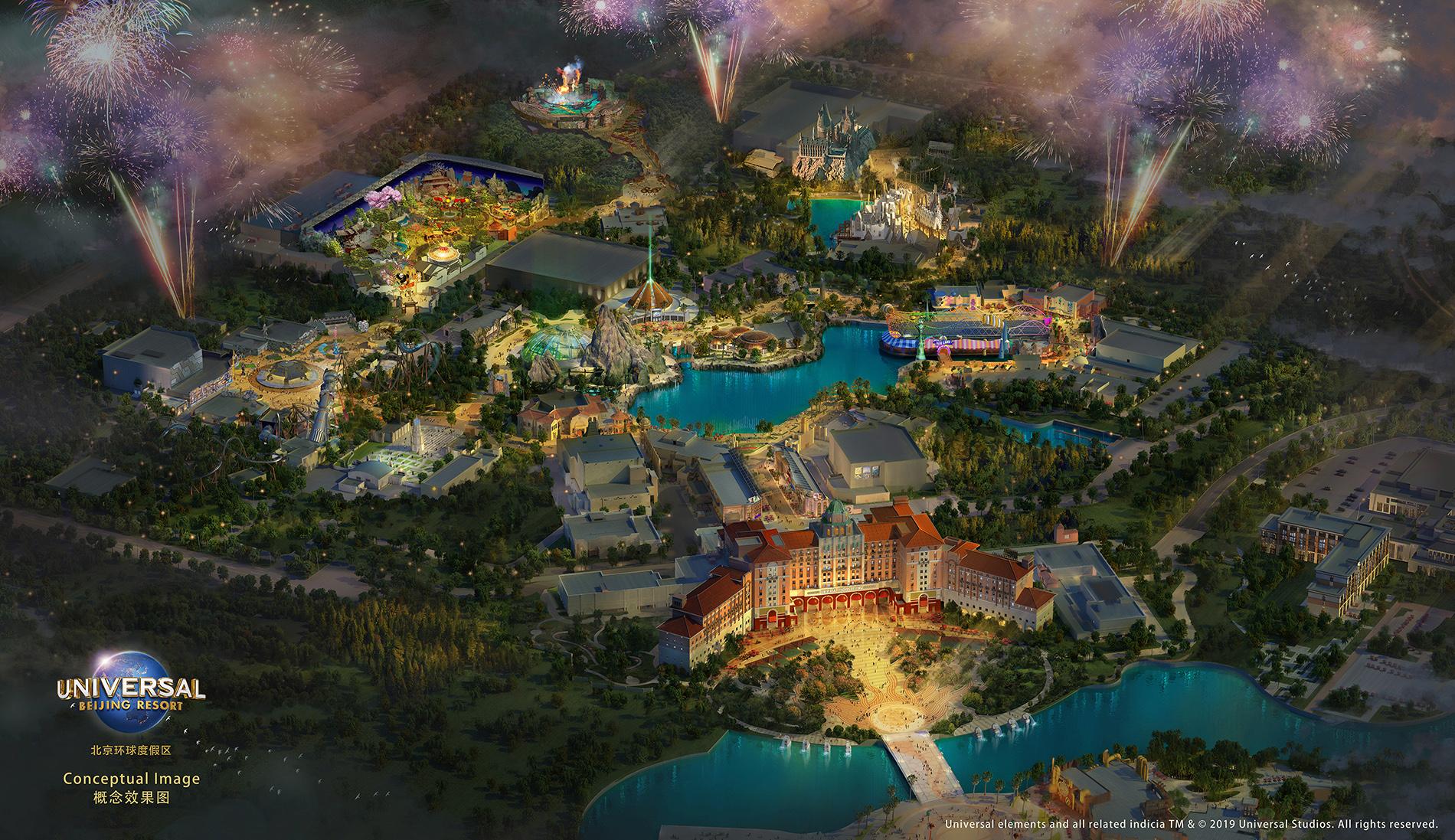 a rendering of universal beijing resort