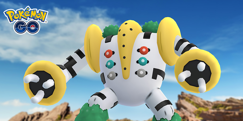 Regigigas poses menacingly in Pokémon Go
