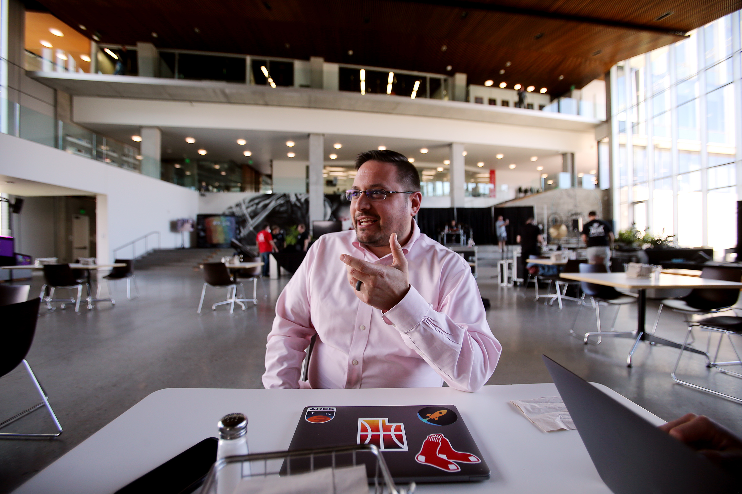 Ben Gaines, director of product management at Adobe, talks about the company and how it is growing in Utah during an interview in Lehi on Tuesday, Oct. 8, 2019.