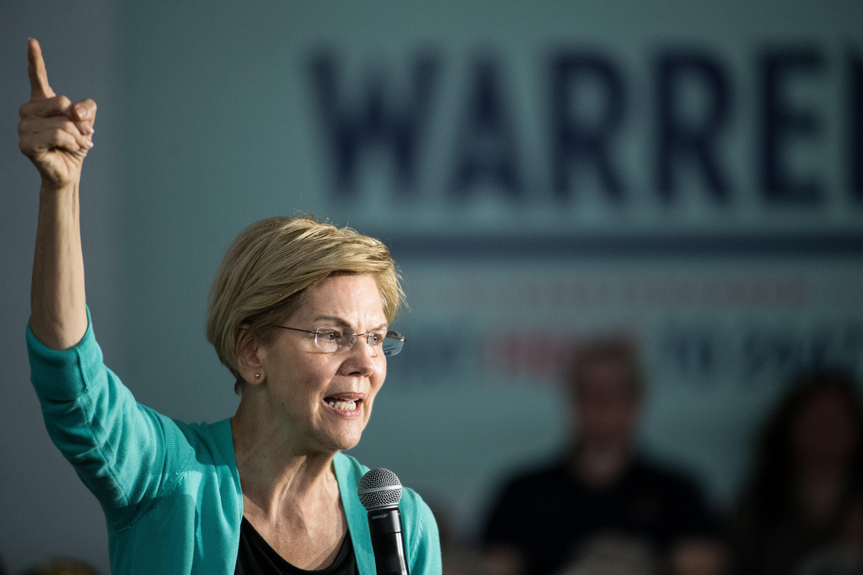 Presidential Candidate Elizabeth Warren Holds A Town In Aiken, SC