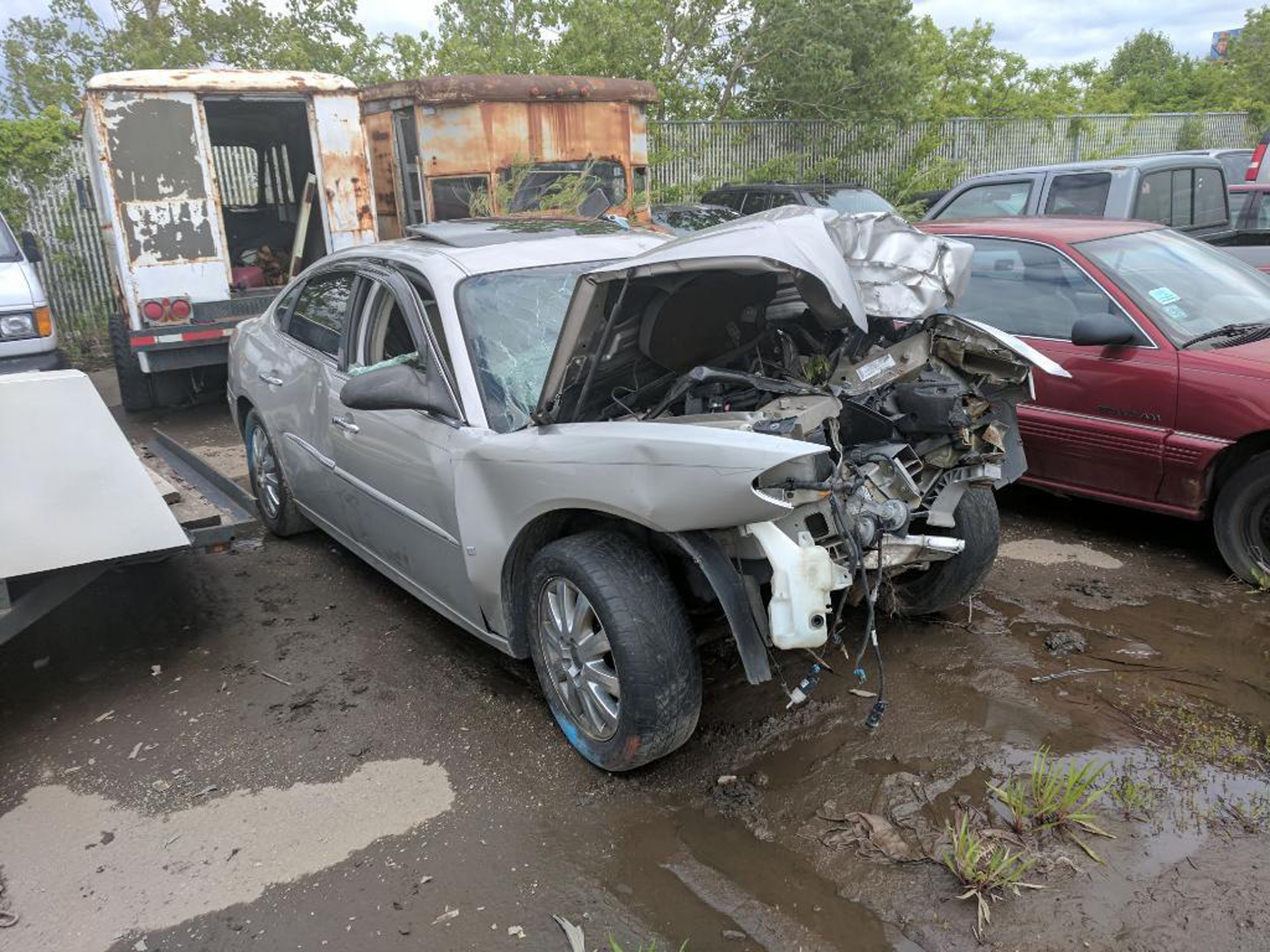 This is what was left of a Markham man's car after a crash in 2017. The car, sold to him by an independent used car dealer that's no longer in business, was under a safety recall when it was sold.