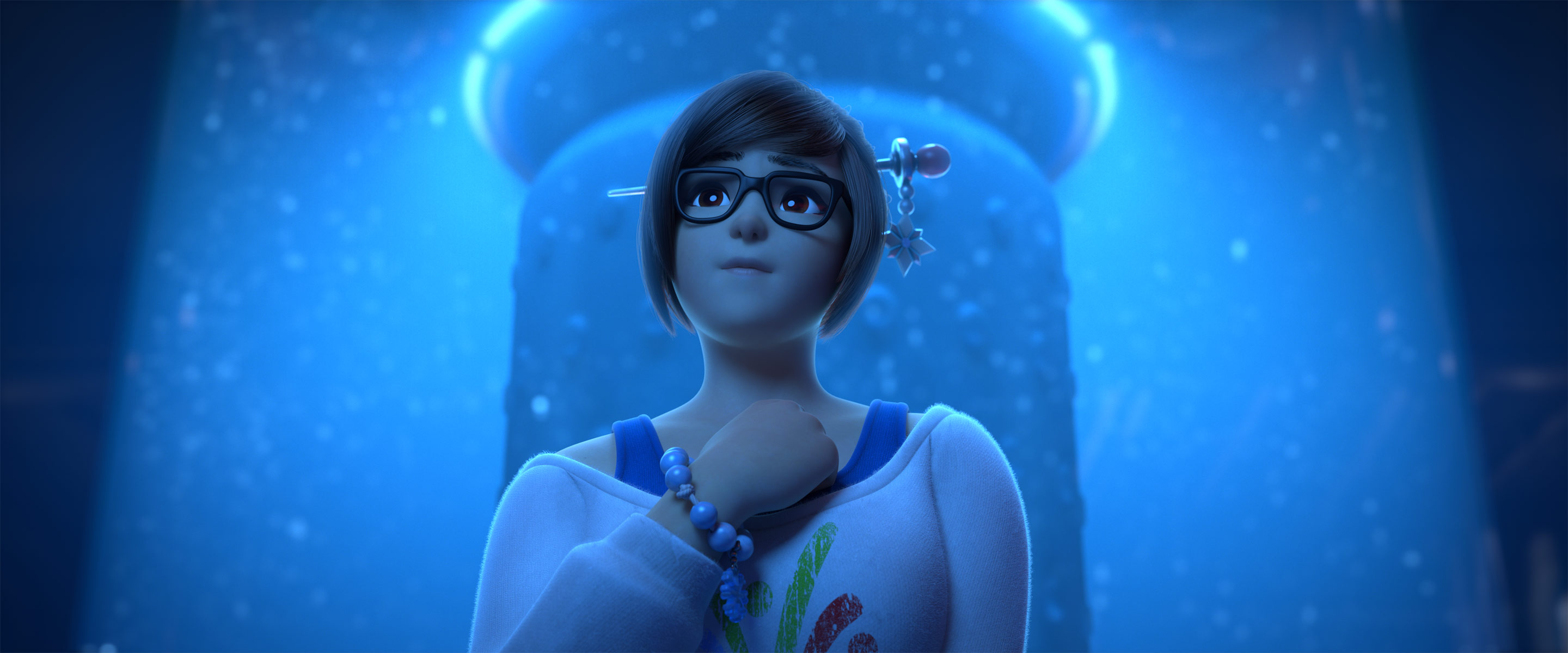 """An image of Mei in the Overwatch animated short """"Rise and Shine"""""""