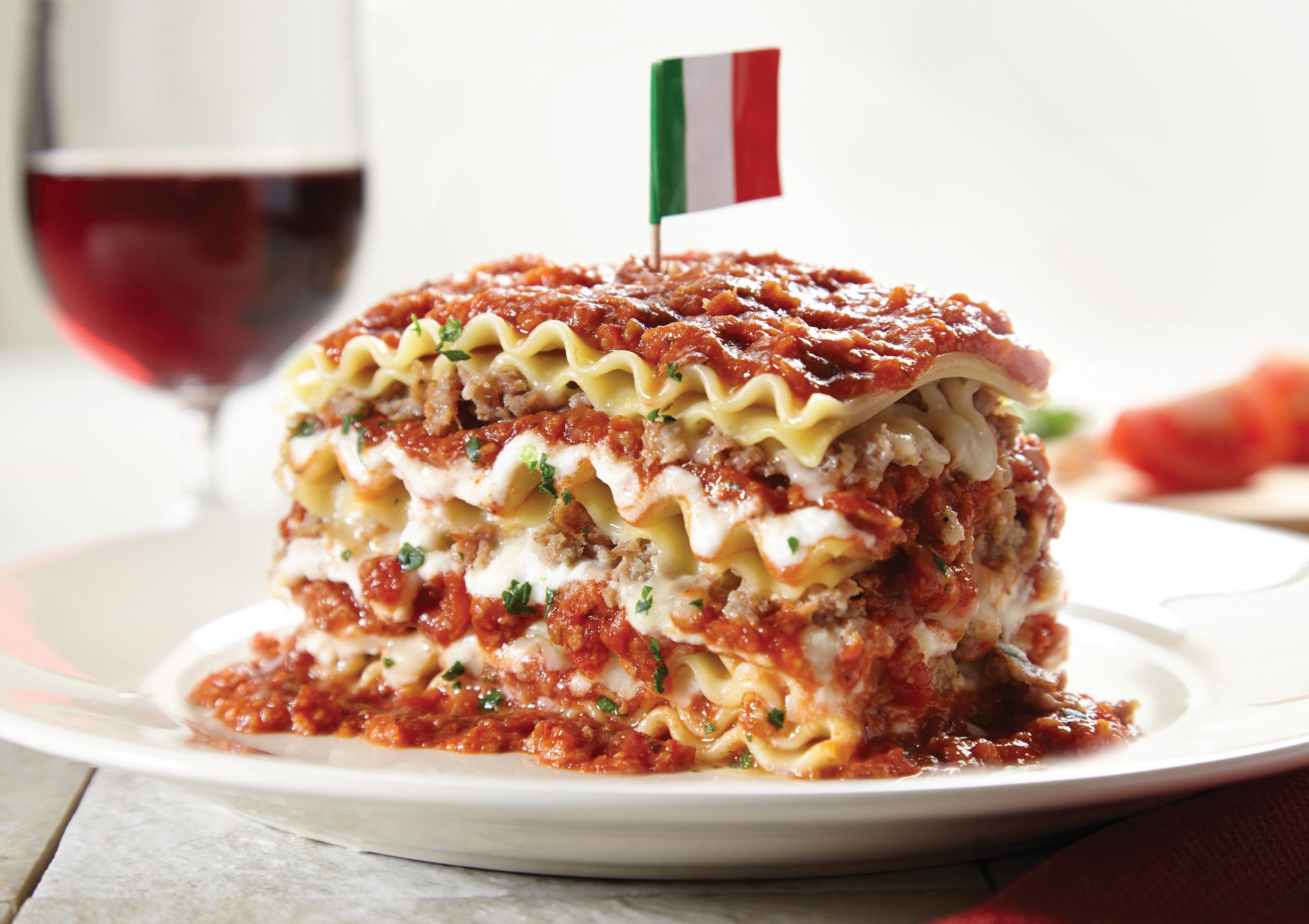 Lasagna at Spaghetti Warehouse.