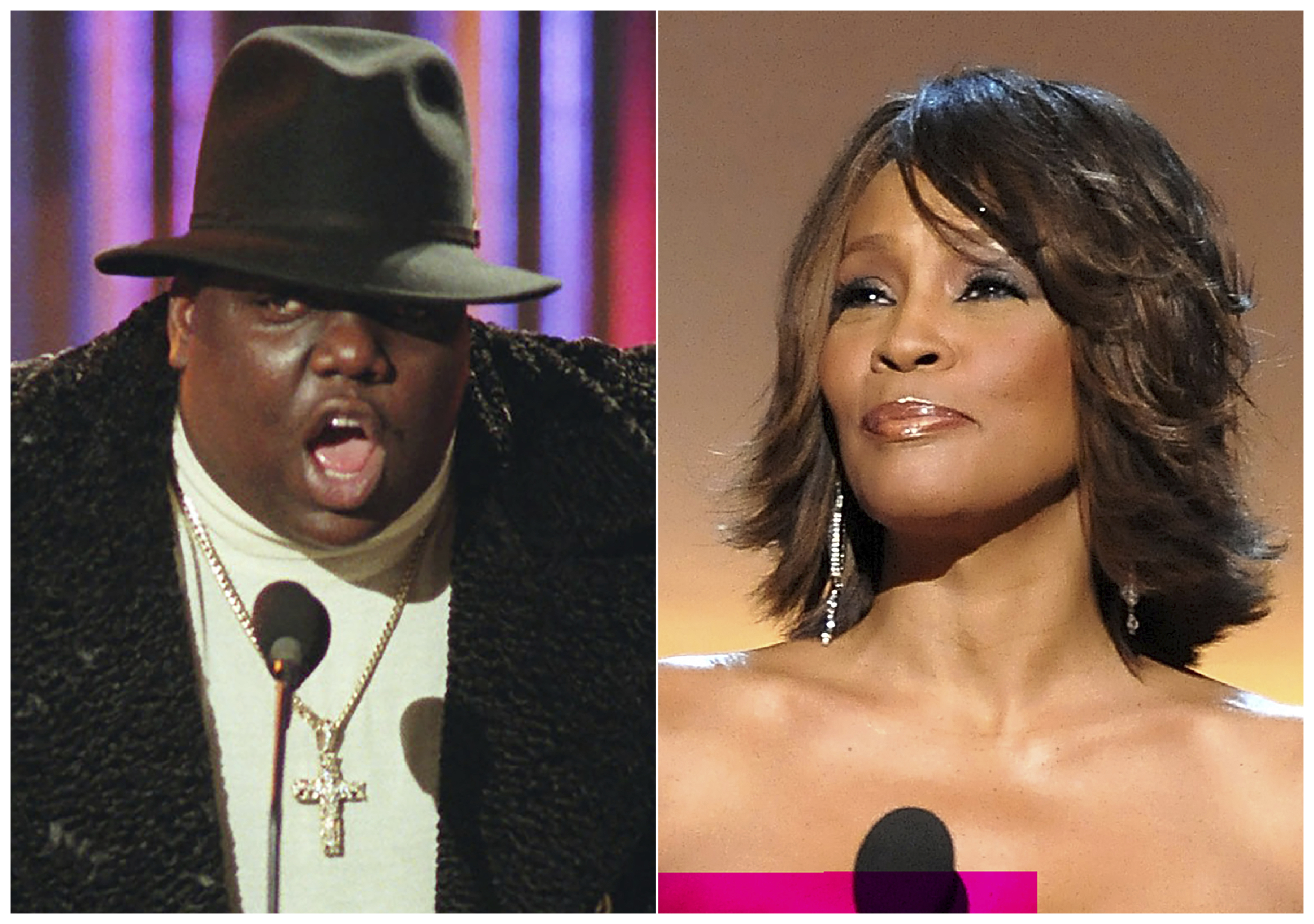 Notorious B.I.G. and Whitney Houston are among the 16 acts nominated for the Rock and Roll Hall of Fame's 2020 class.