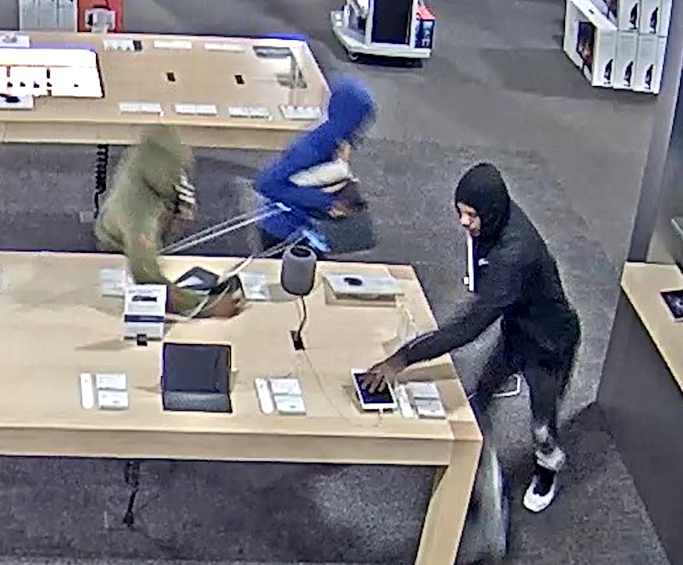 Police say this video still shows three burglary suspects who broke into a Gurnee Best Buy on Oct. 14, 2019.
