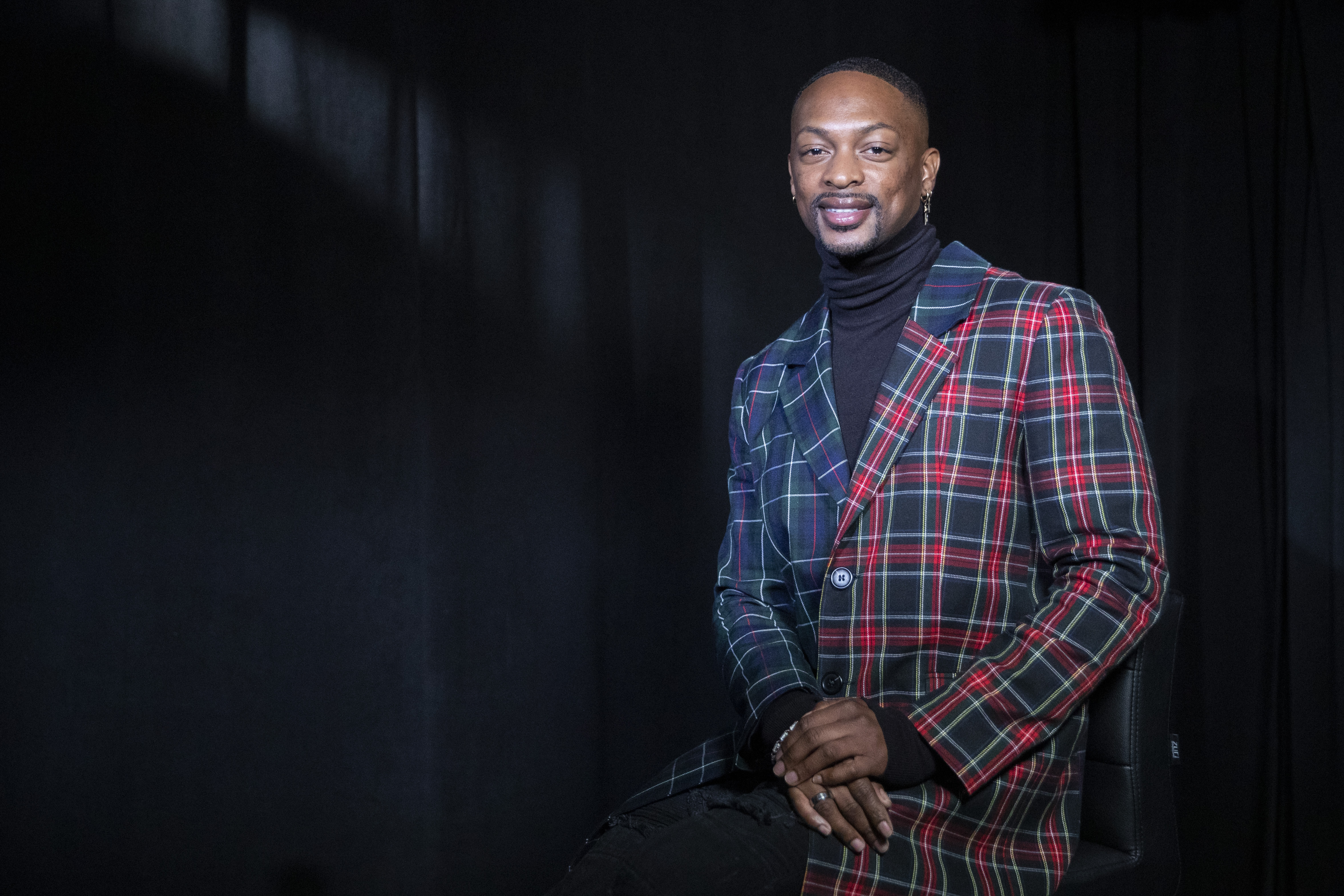 Fashion designer LaQuan Smith poses for a portrait in New York. Some see the self-trained Smith as a pioneer in pushing the fashion culture forward.
