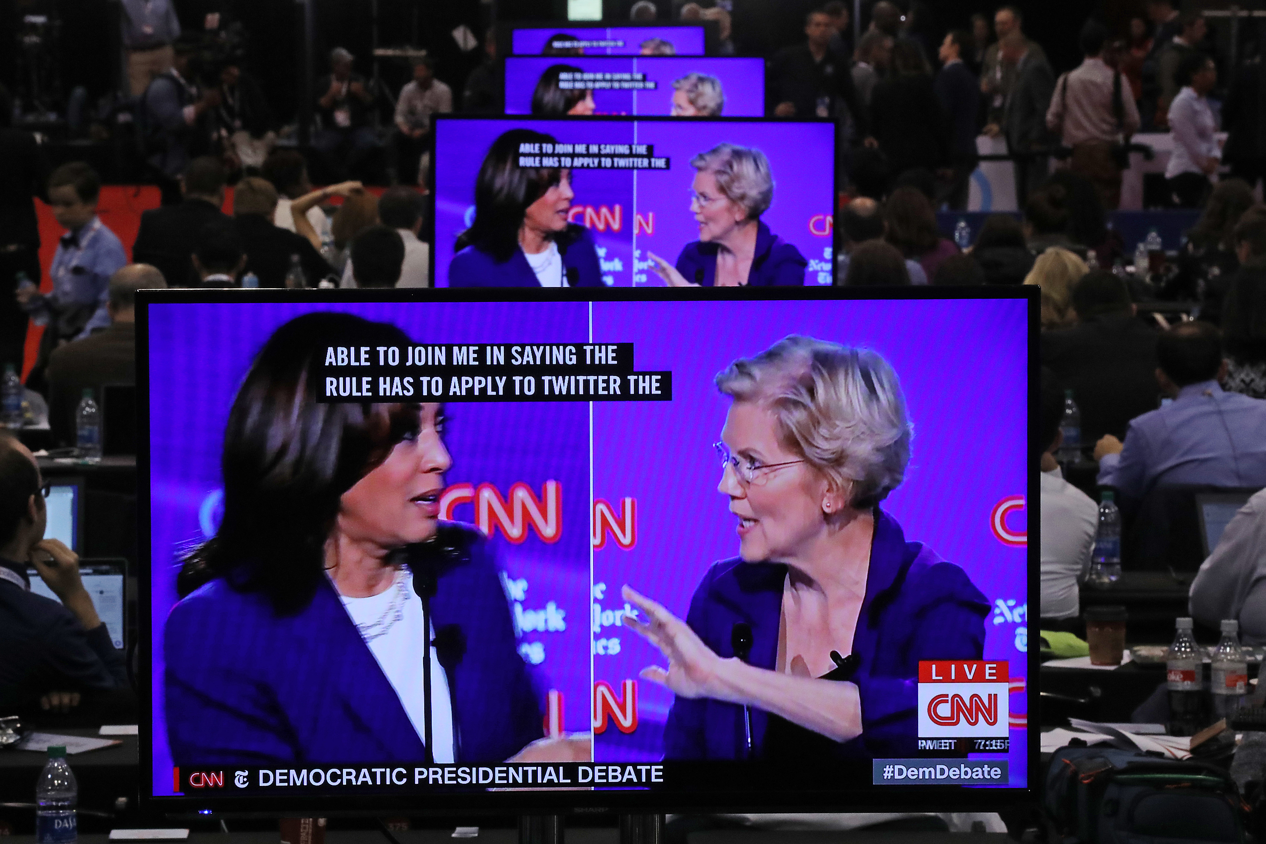 The simmering debate over Big Tech explodes on the Democratic debate stage
