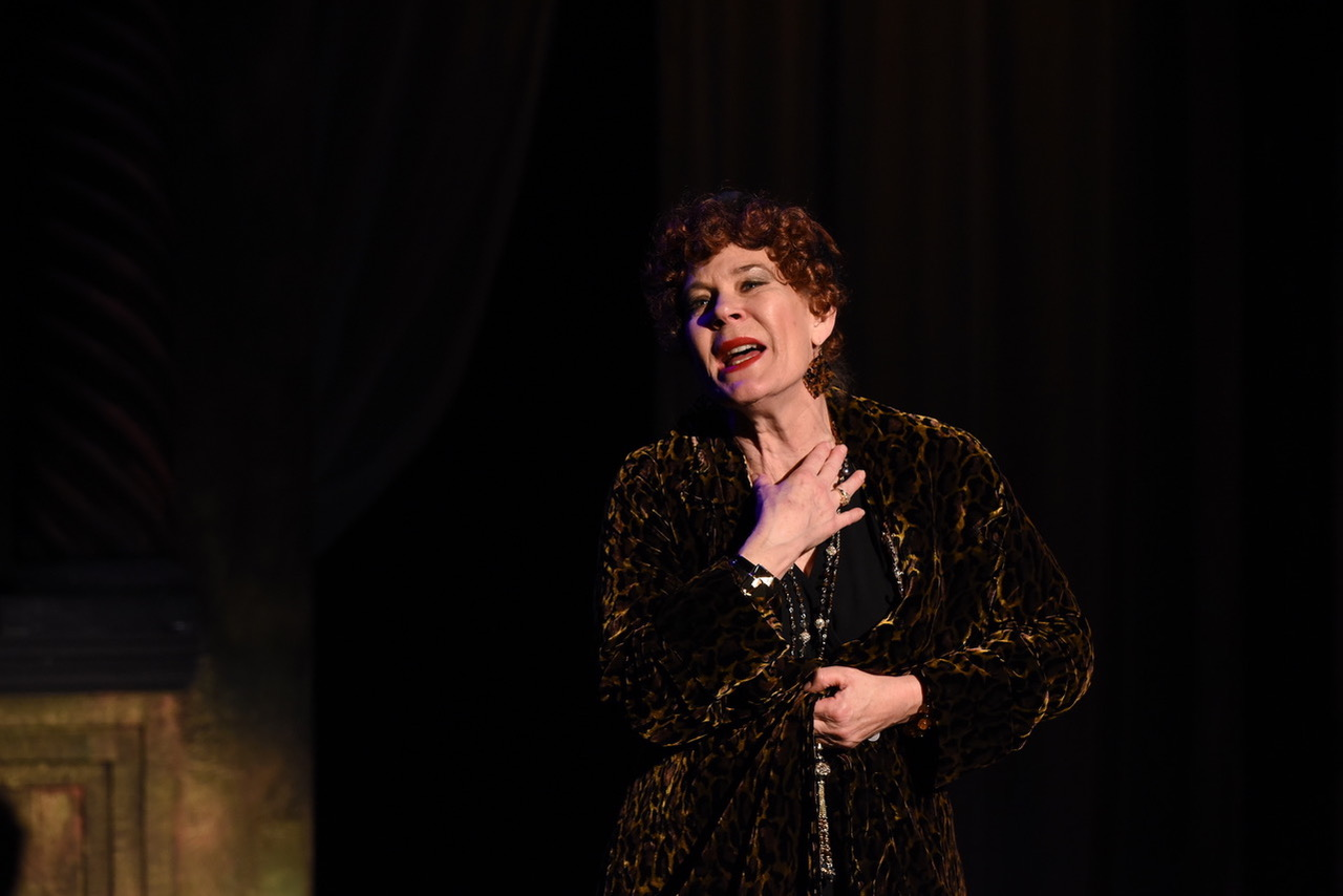 "Hollis Resnik stars as the once famous silent screen star Norma Desmond in Porchlight Music Theatre's production of ""Sunset Boulevard."""
