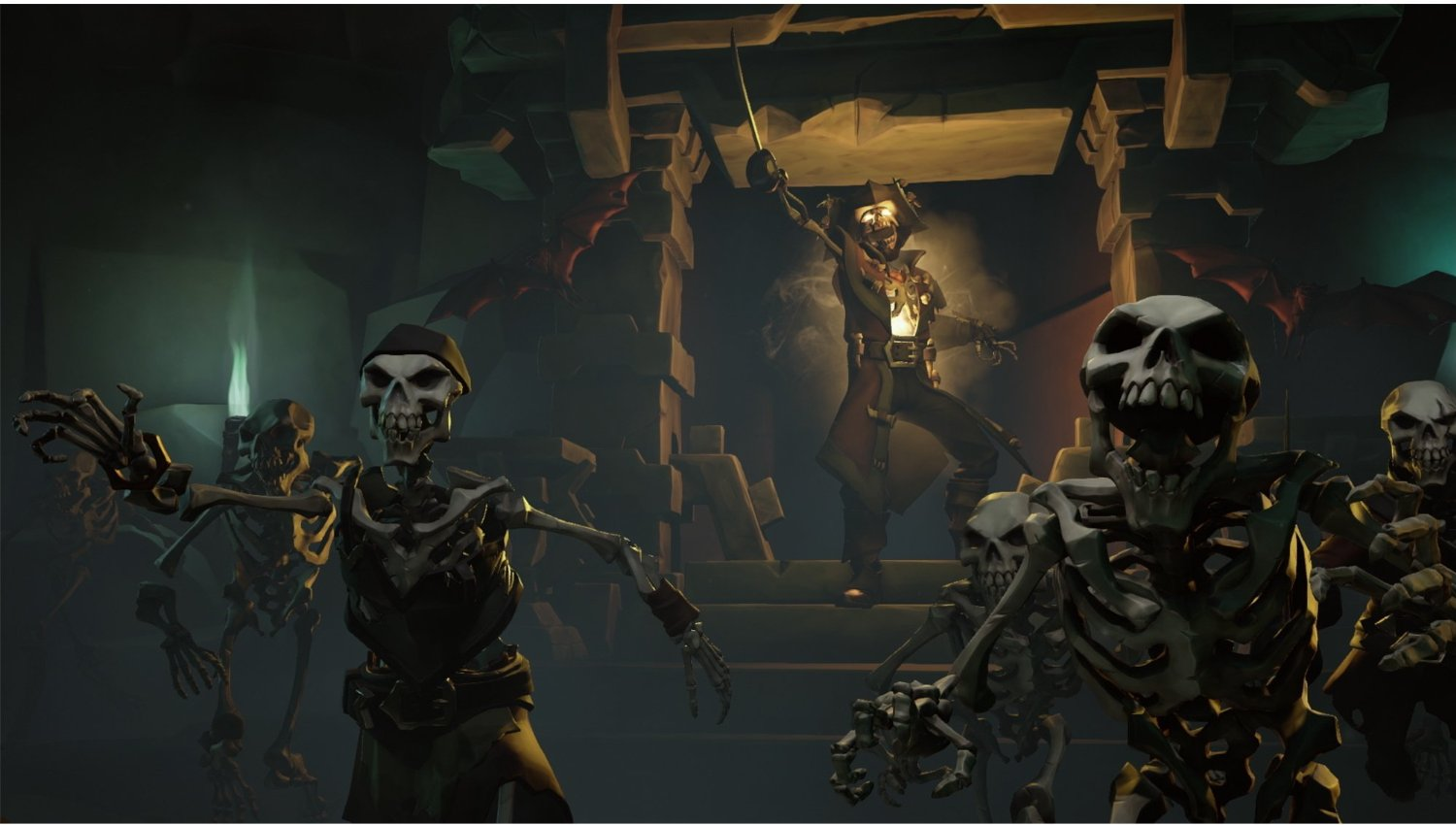 Sea of Thieves - an army of skeletons advances