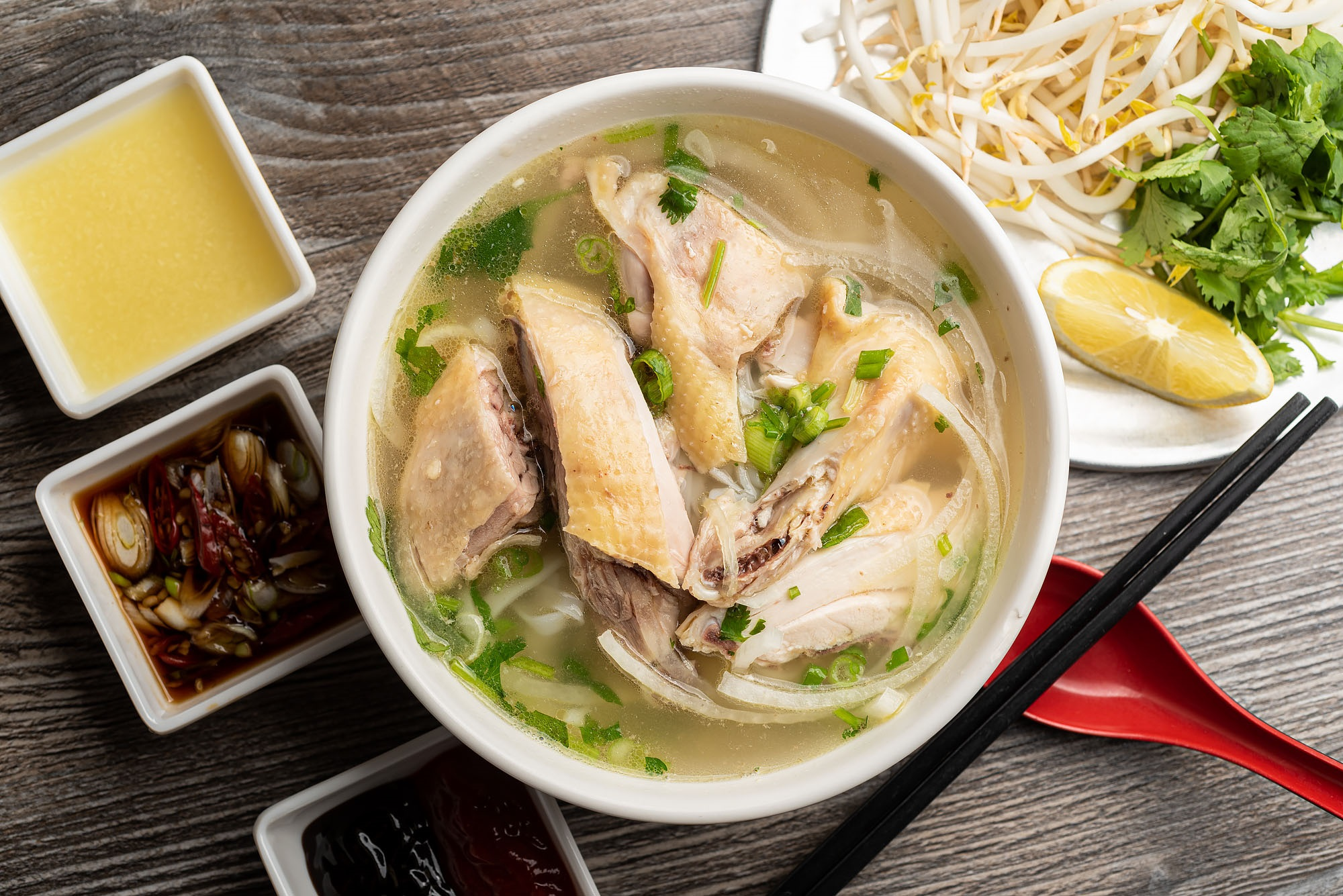 Pho Ga District's Chicken Pho Dazzles With Age-Old Family Recipe