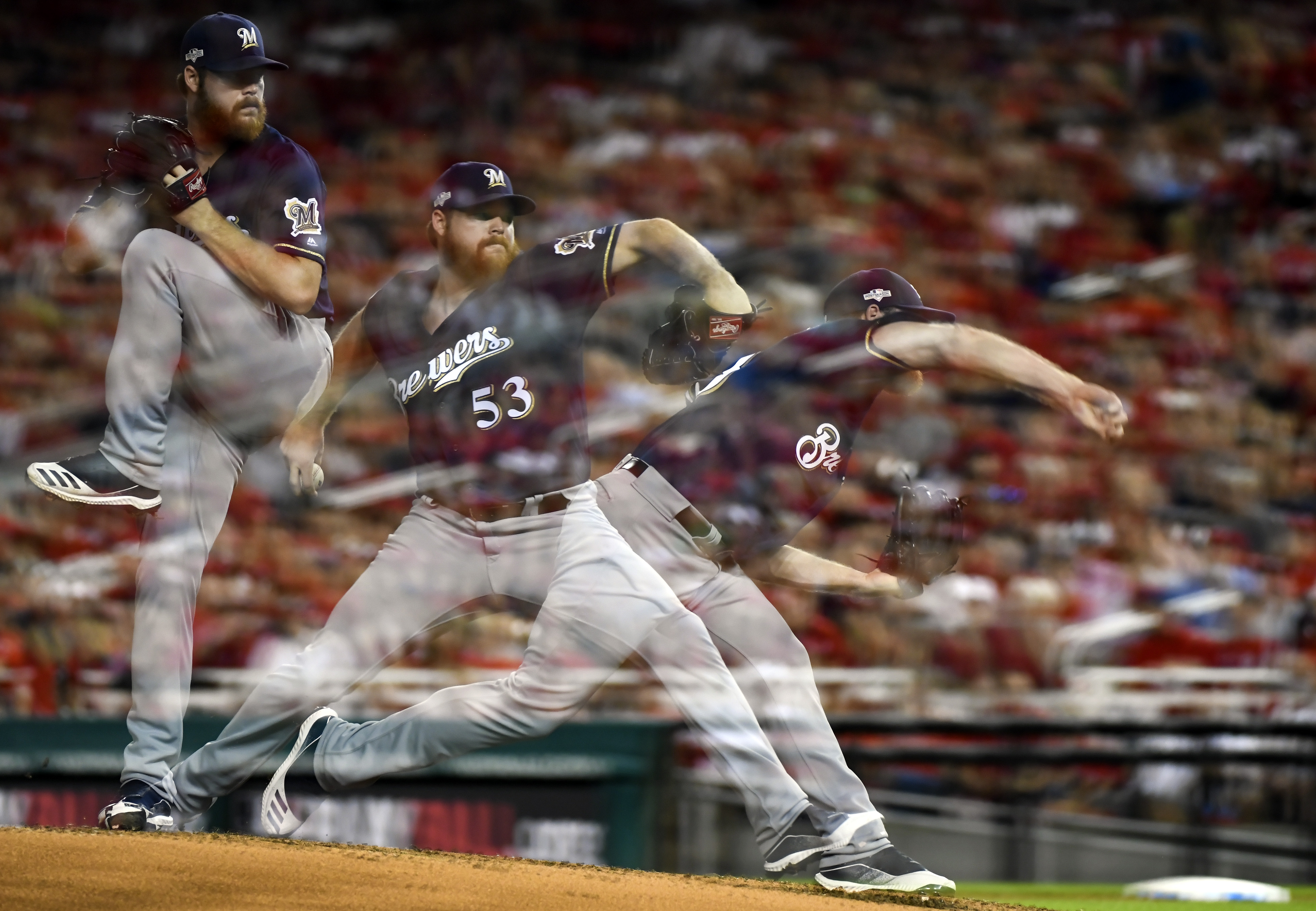 MLB: OCT 01 NL Wild Card - Brewers at Nationals