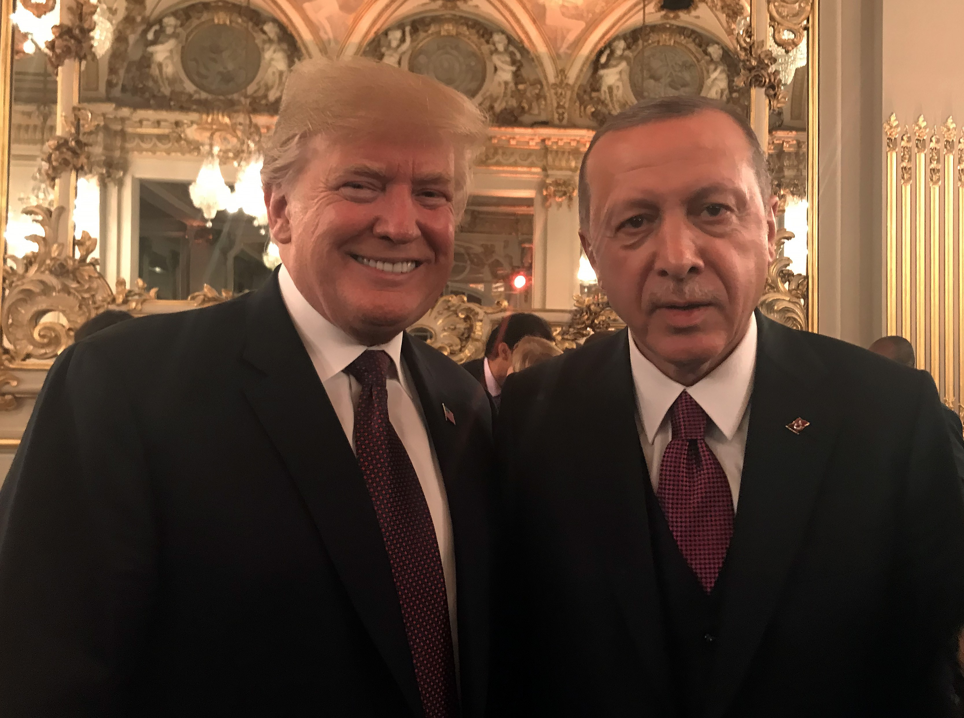 Trump and Erdoğan together for a photo.